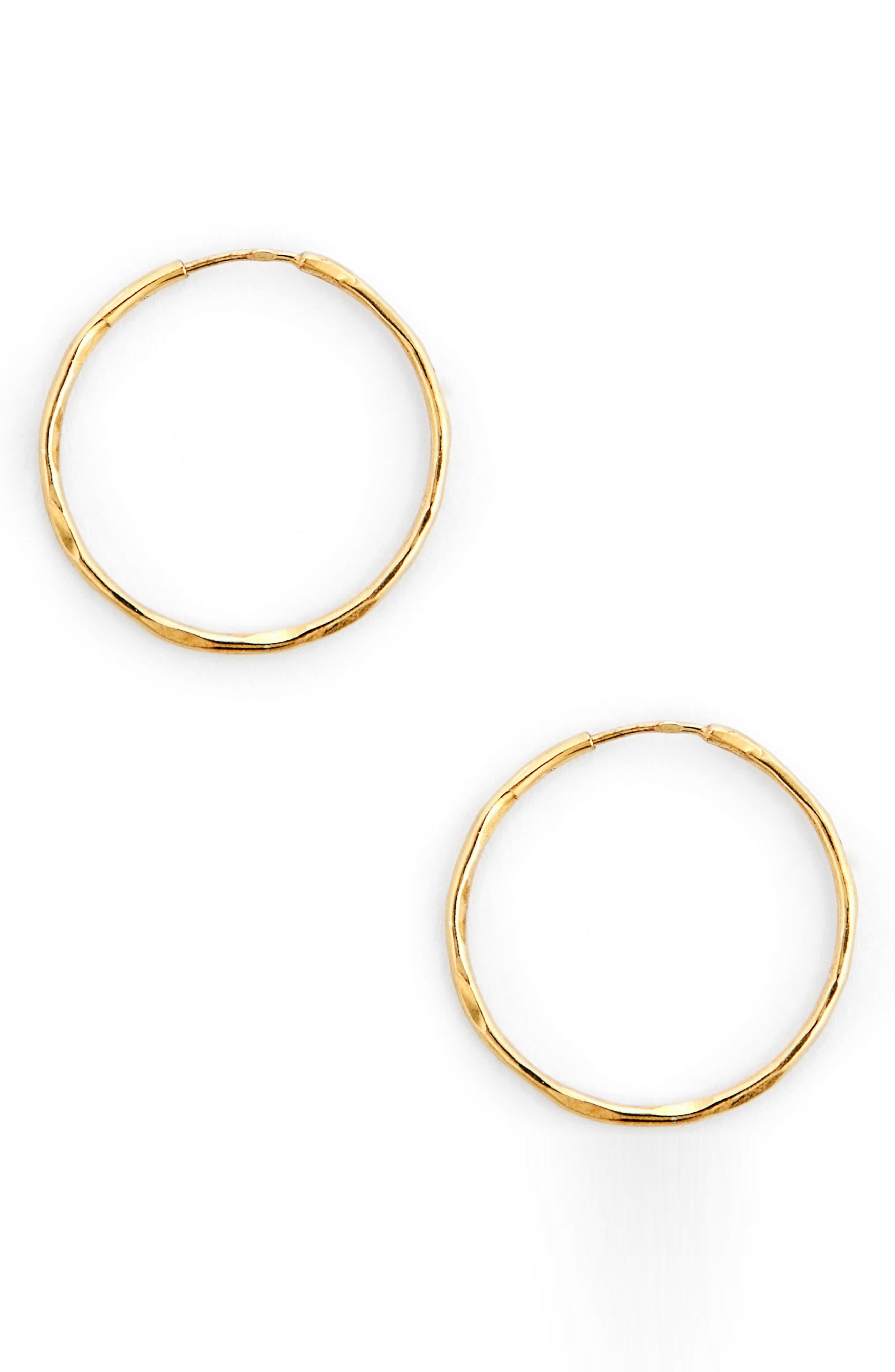 Basic Hoop Earrings,                             Main thumbnail 1, color,                             Gold