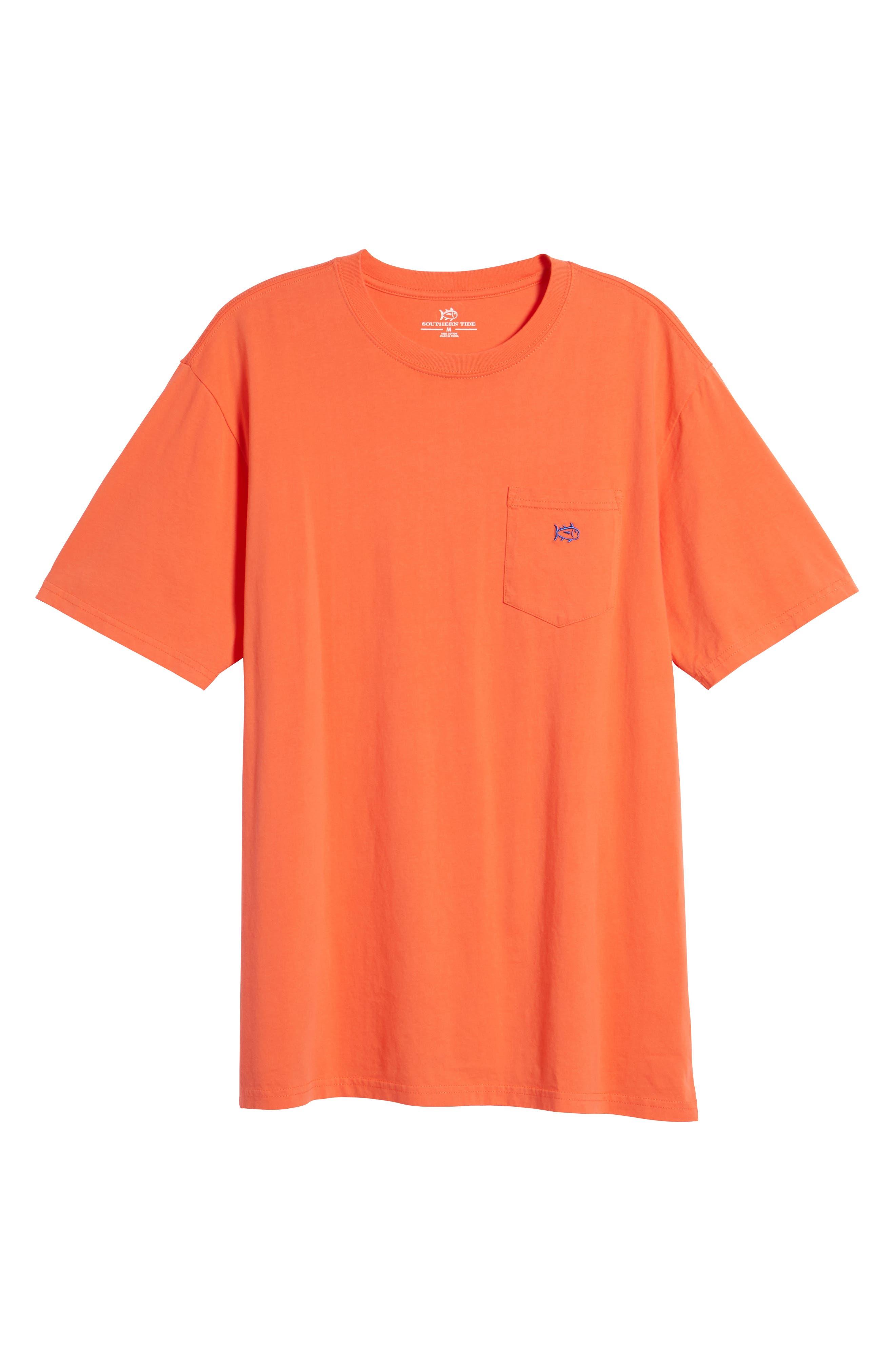 Skipjack Logo Regular Fit T-Shirt,                             Alternate thumbnail 6, color,                             Hot Coral