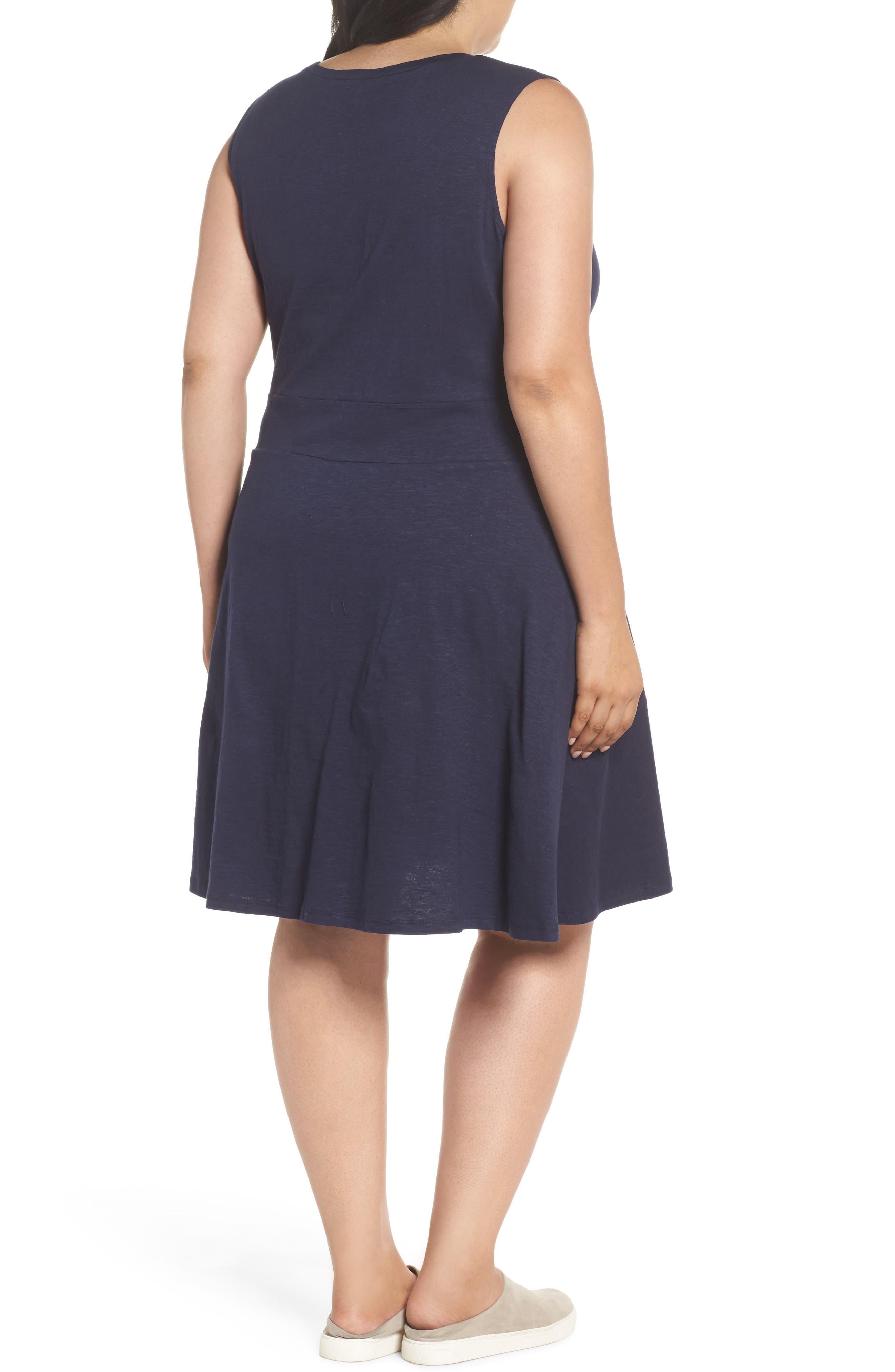 Twist Front Knit Dress,                             Alternate thumbnail 2, color,                             Navy Peacoat
