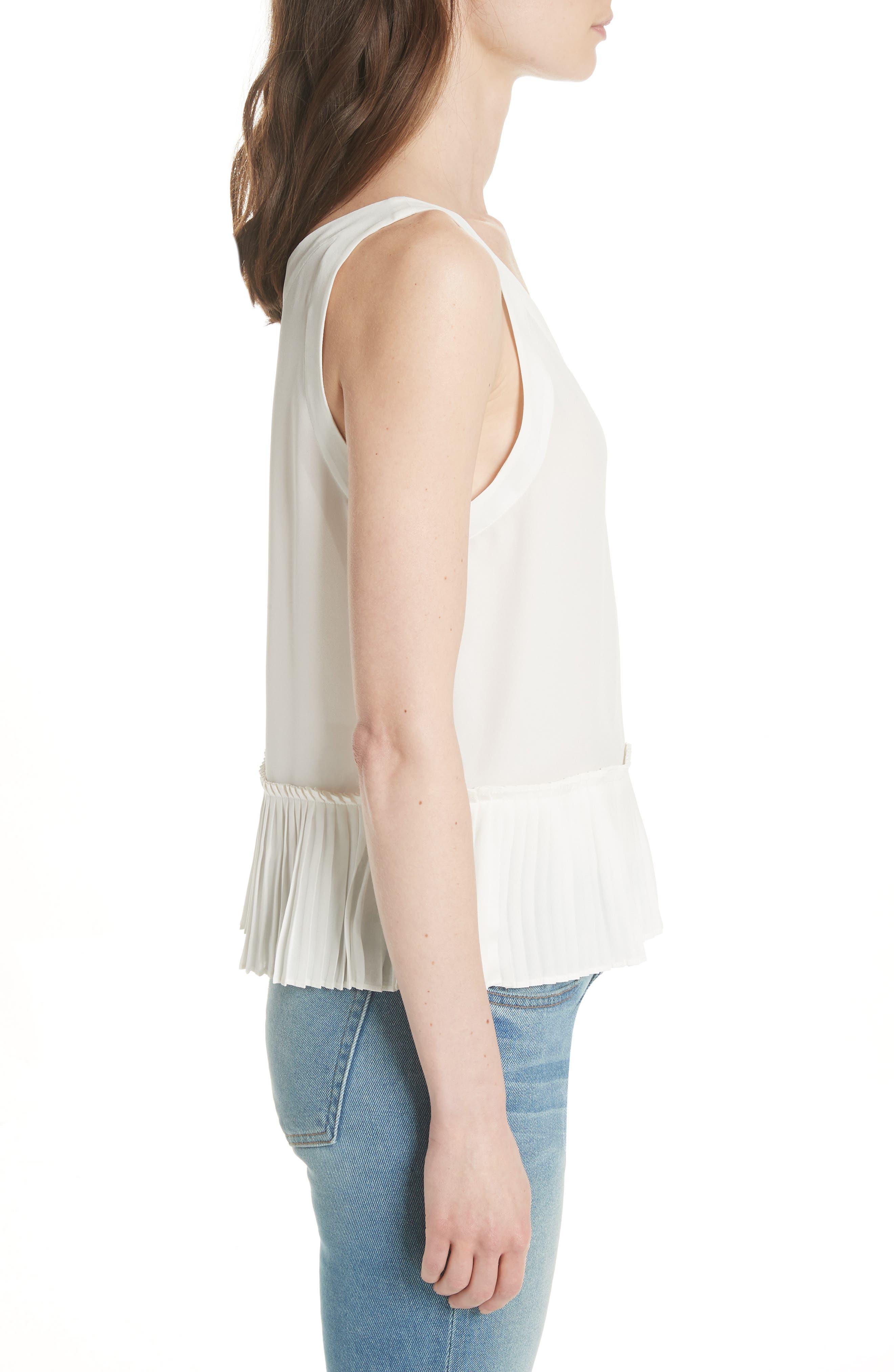 Alternate Image 3  - Rebecca Taylor Stretch Silk Tank Top