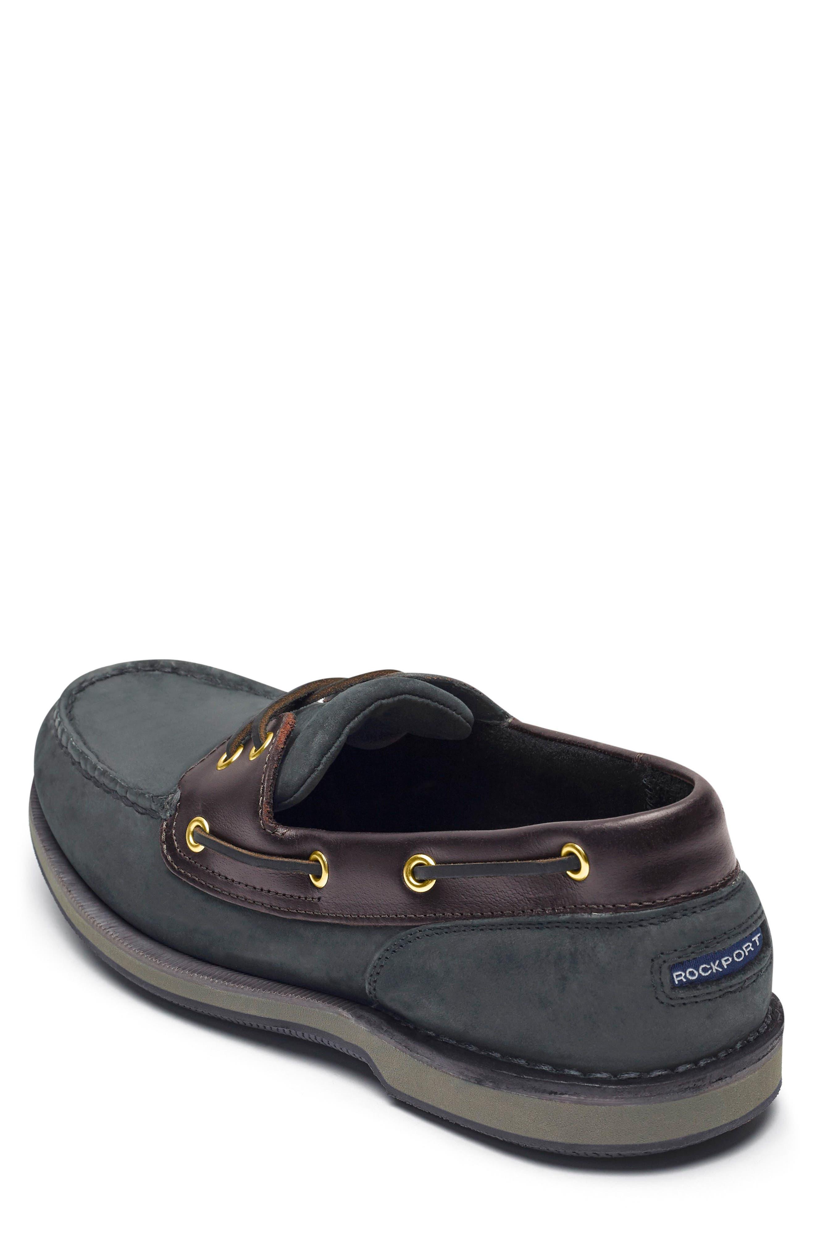 'Perth' Boat Shoe,                             Alternate thumbnail 2, color,                             Black/ Bark Leather