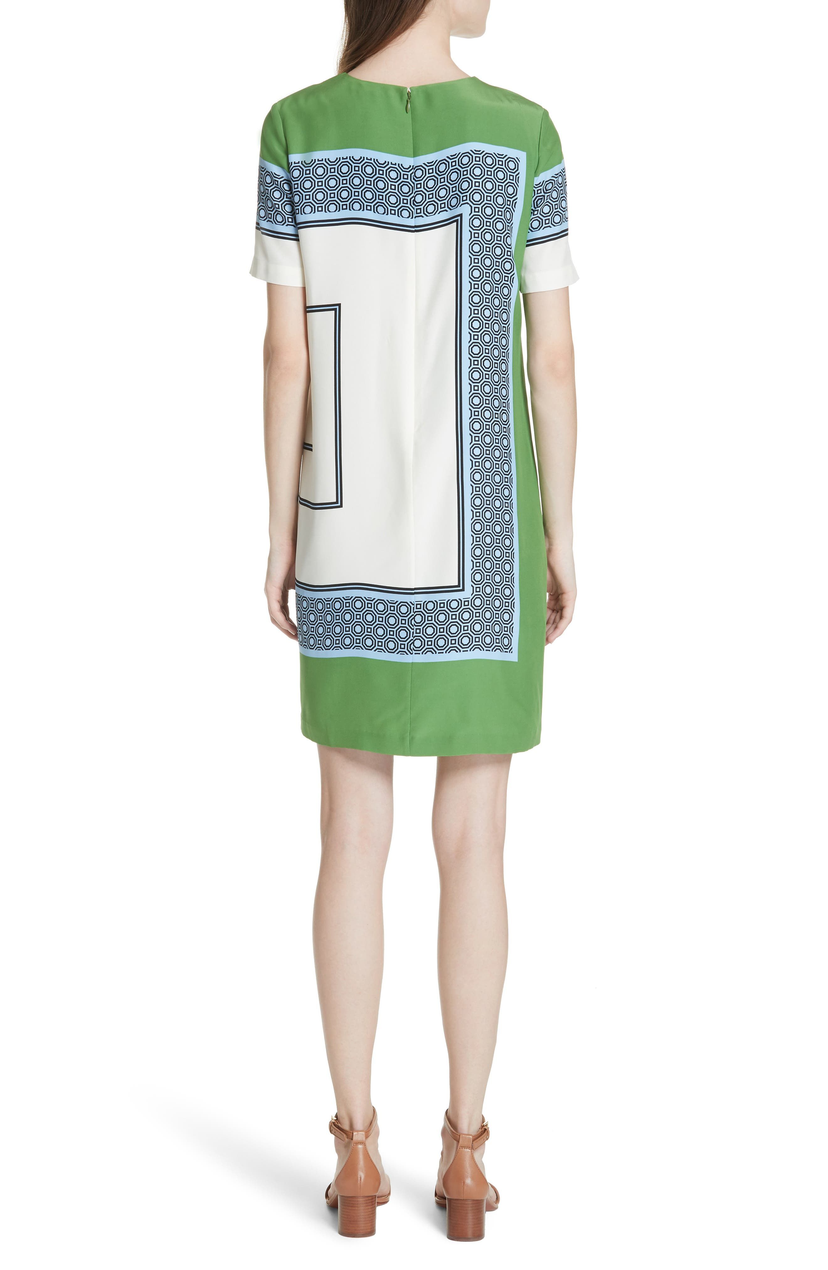 Mallory Silk Dress,                             Alternate thumbnail 2, color,                             Light Chambray