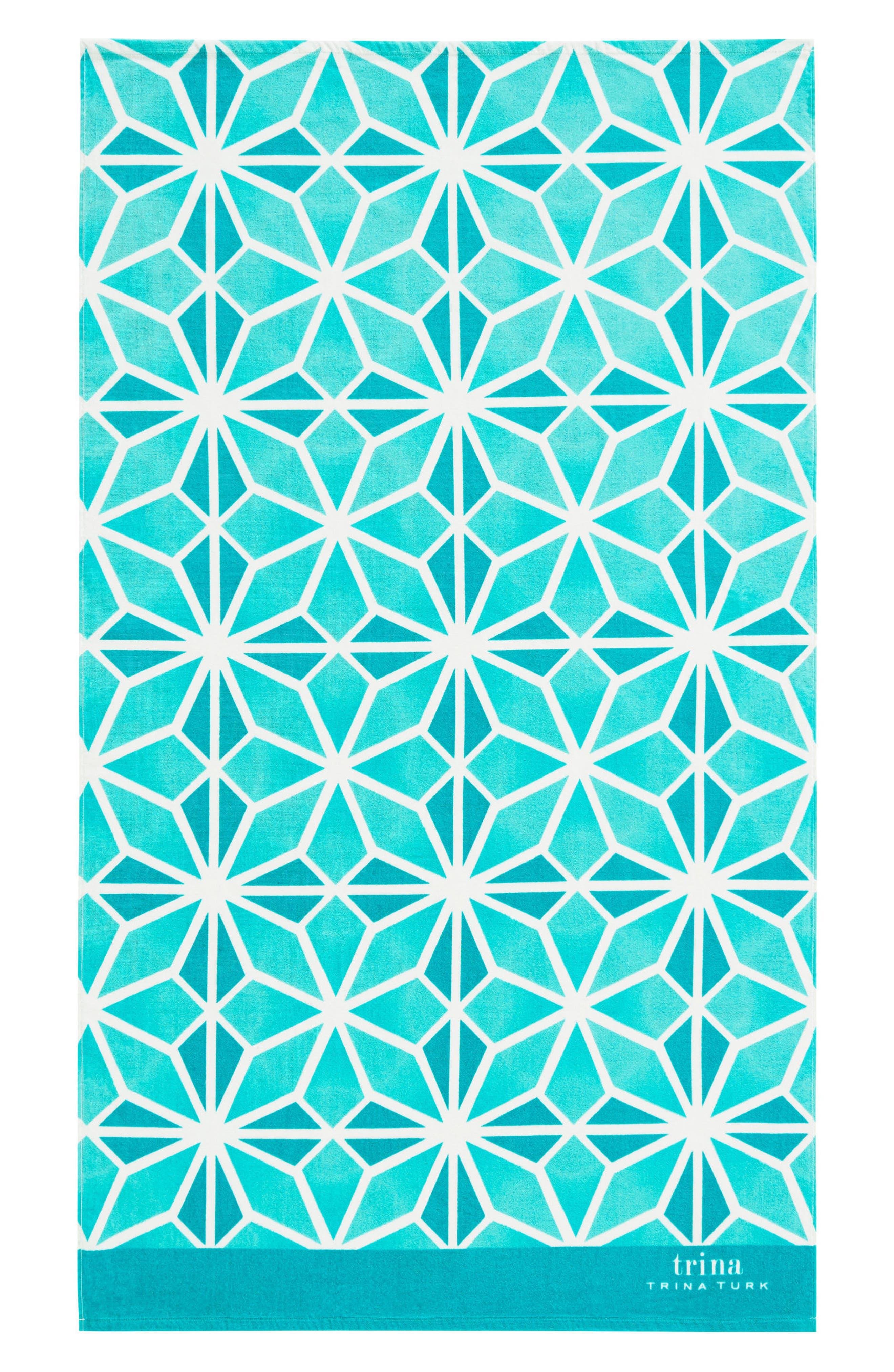 Mojave Beach Towel,                             Main thumbnail 1, color,                             Aqua