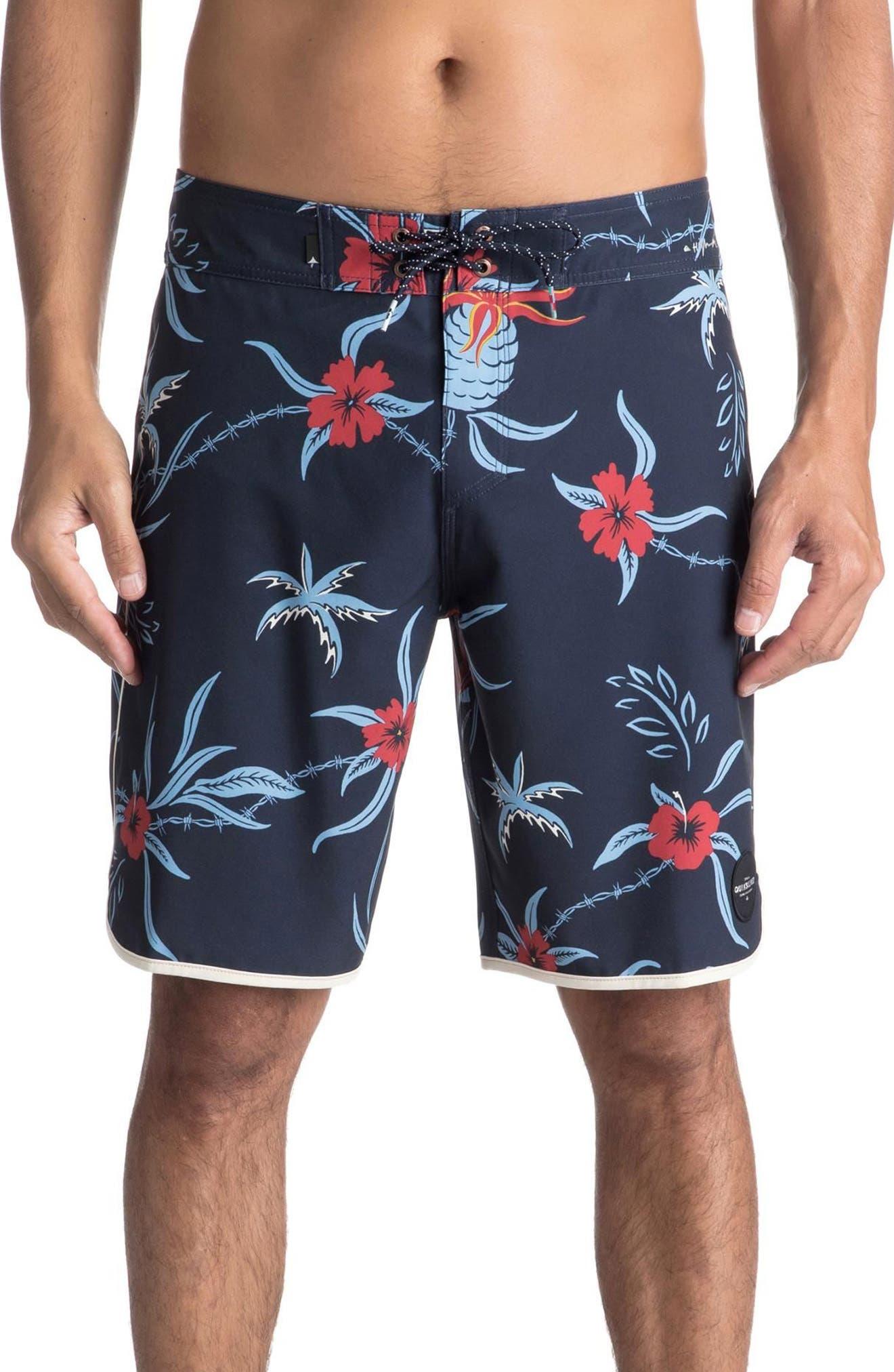 Highline Trespasser Board Shorts,                             Main thumbnail 1, color,                             Navy Blazer