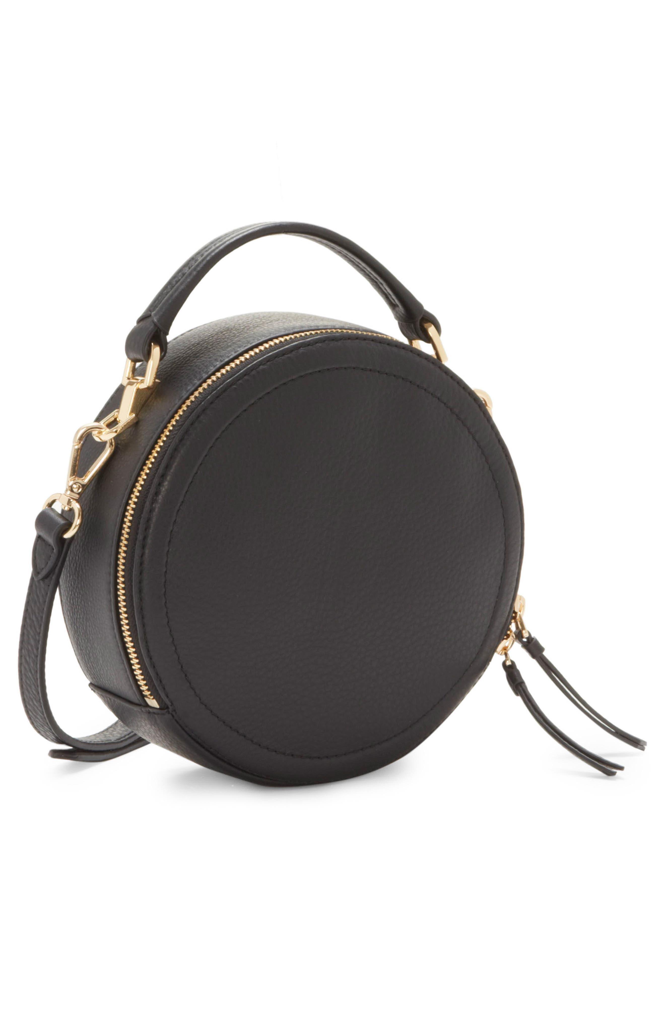 Bray Leather Crossbody Bag,                             Alternate thumbnail 4, color,                             Black