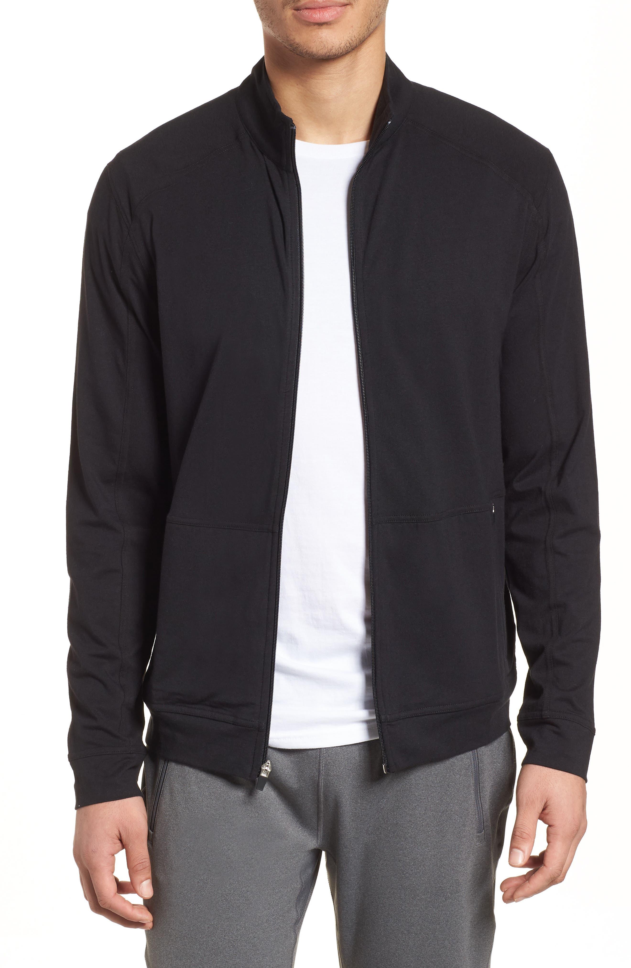 Carrollton Zip Jacket,                             Main thumbnail 1, color,                             Black