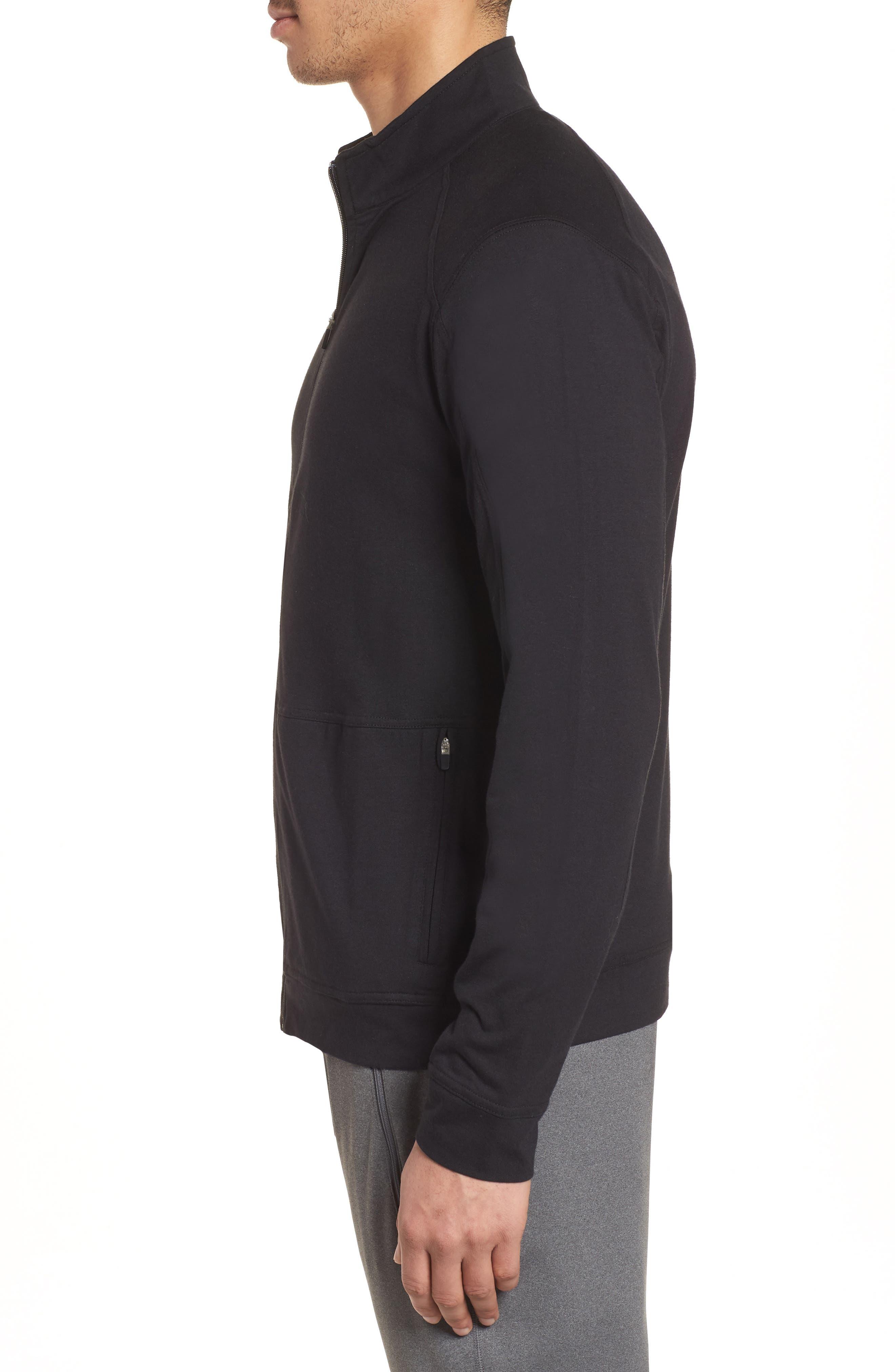 Carrollton Zip Jacket,                             Alternate thumbnail 3, color,                             Black