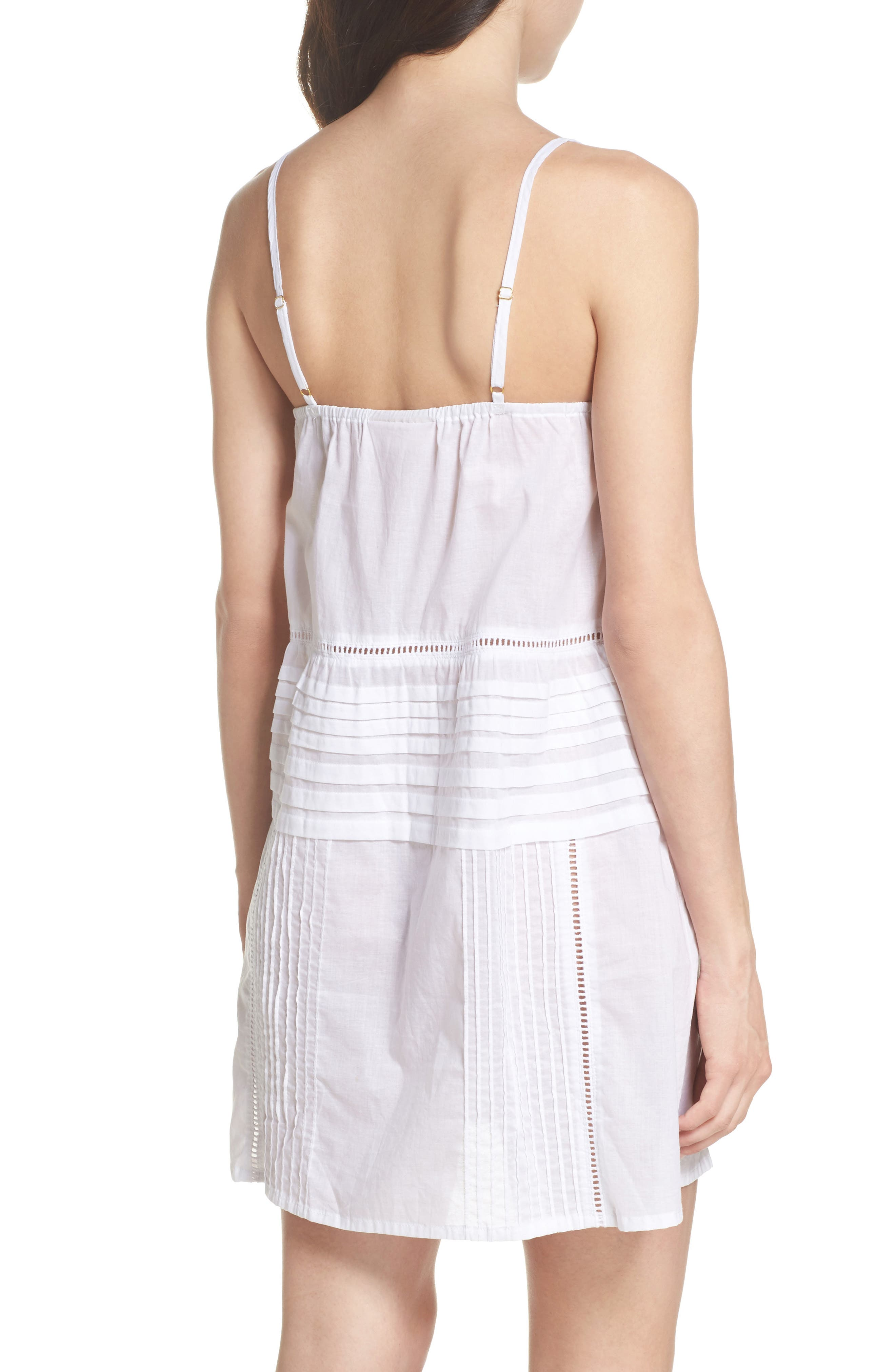 Embroidered Lace Chemise,                             Alternate thumbnail 2, color,                             White