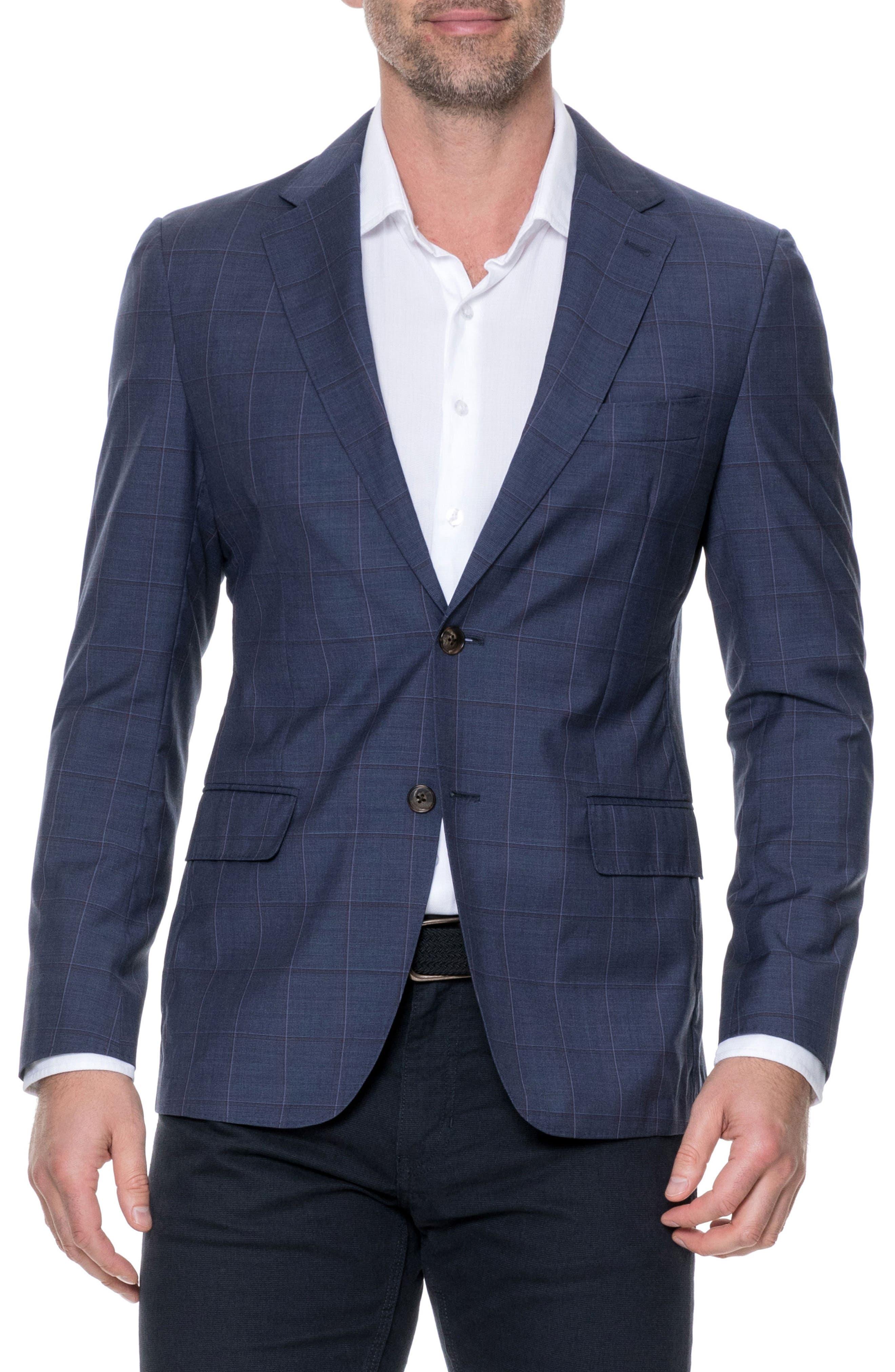 Luxbridge Regular Fit Wool Sport Coat,                         Main,                         color, Midnight