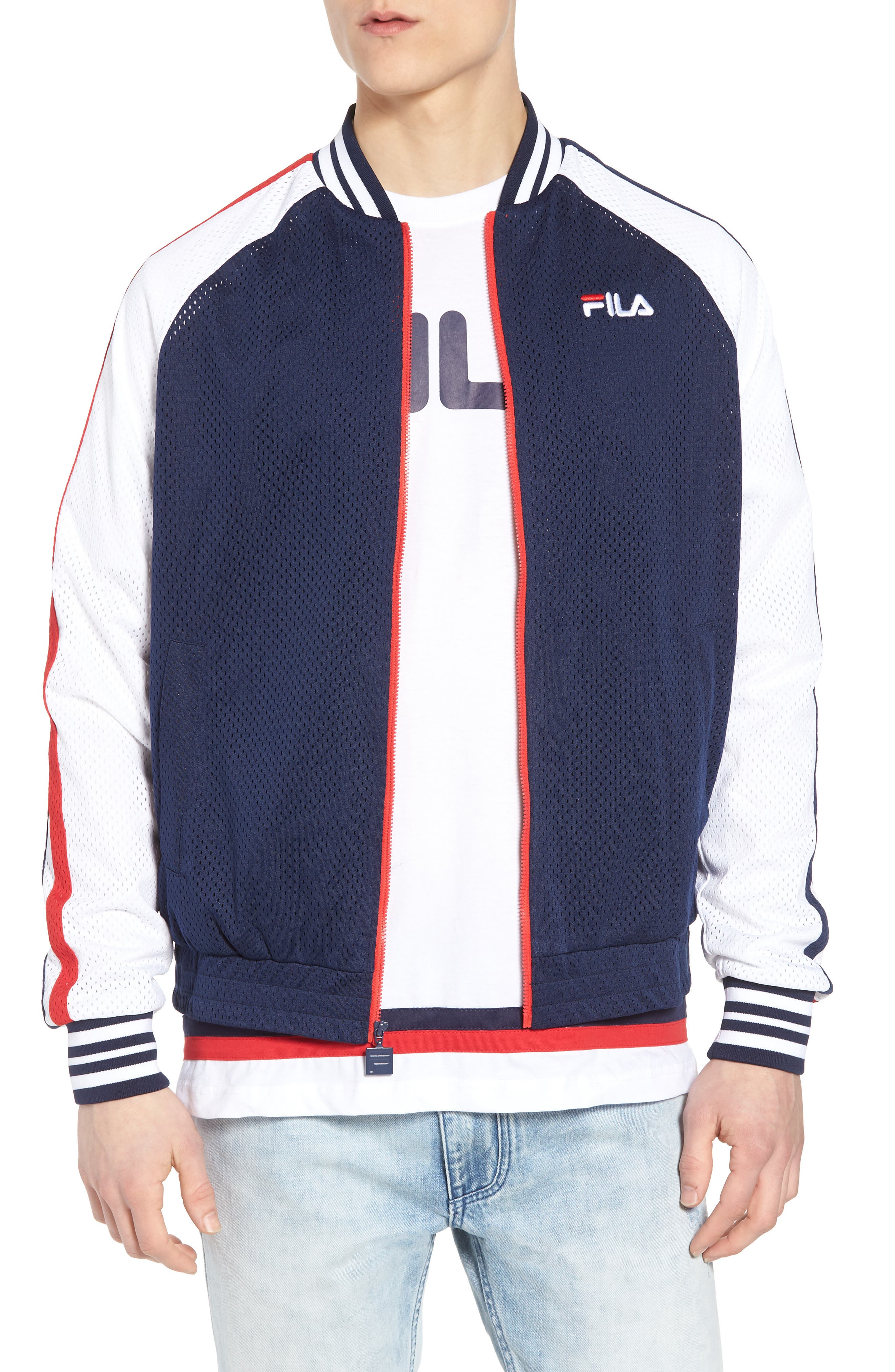 Lucas Jacket,                             Main thumbnail 1, color,                             Peacoat/ White/ Chinese Red
