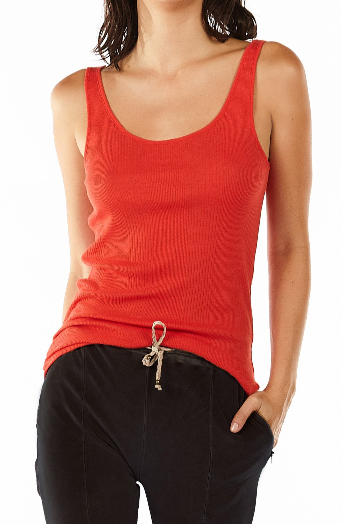 Scoop Neck Tank,                         Main,                         color, Red