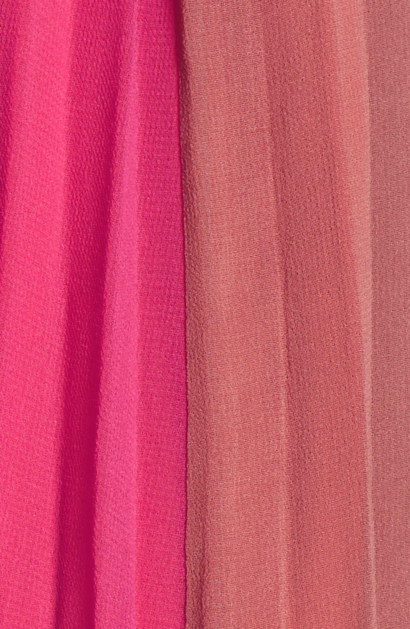 Pepper Pleated Dress,                             Alternate thumbnail 5, color,                             Red Multi