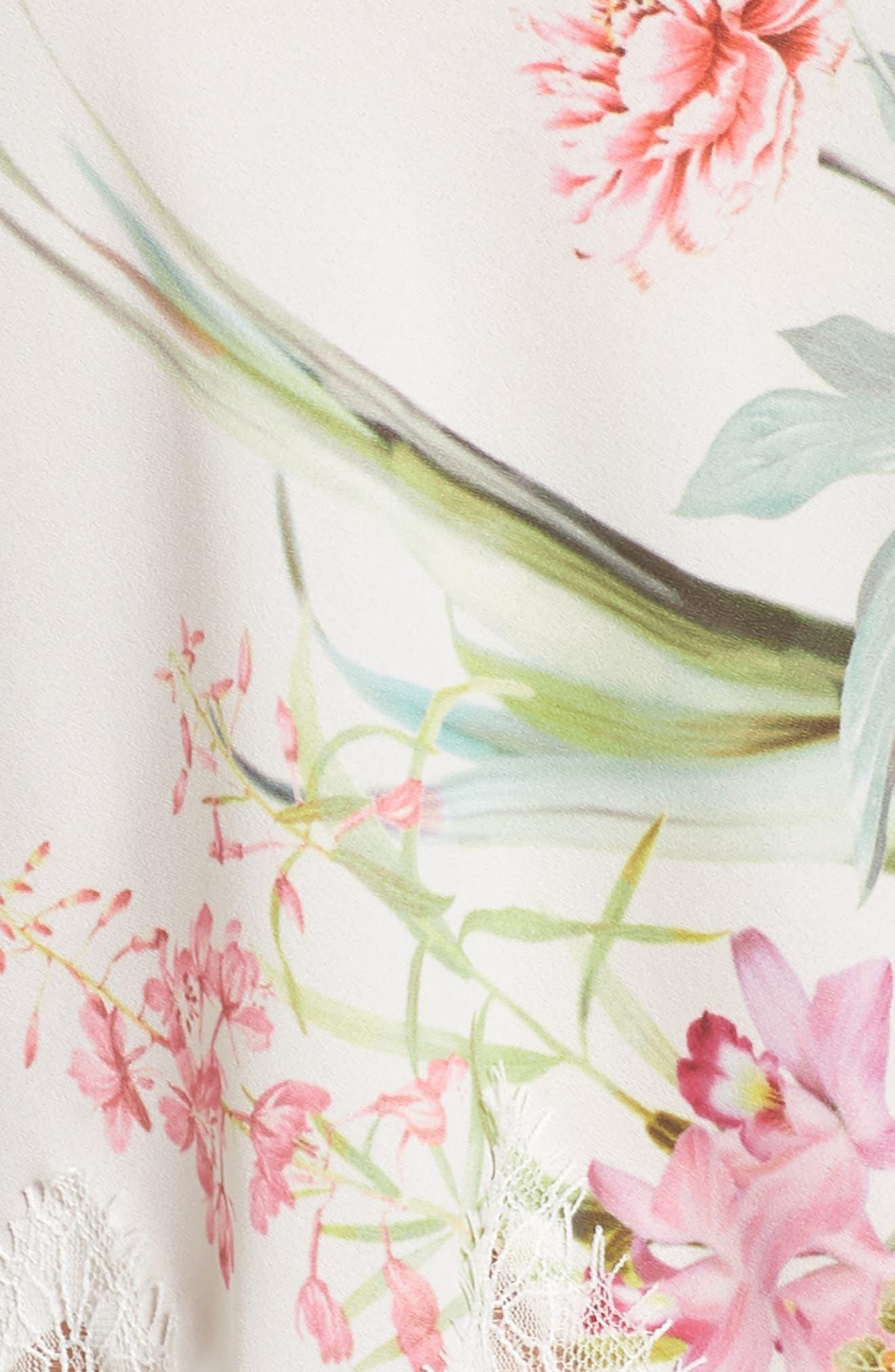 Fiona Crepe Camisole Pajama Set,                             Alternate thumbnail 5, color,                             Ivory