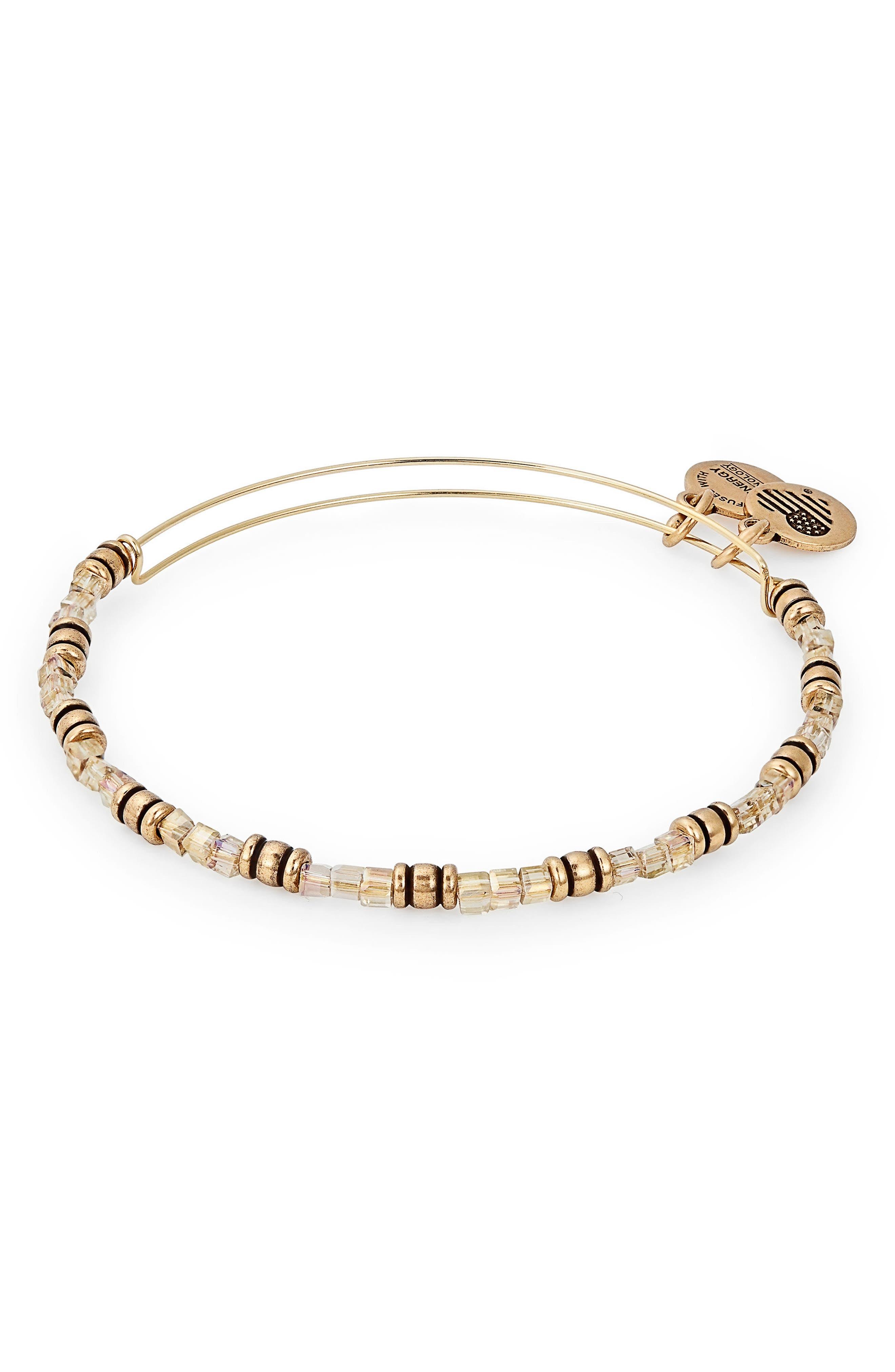 Coastal Sunlight Expandable Beaded Bracelet,                         Main,                         color, Gold