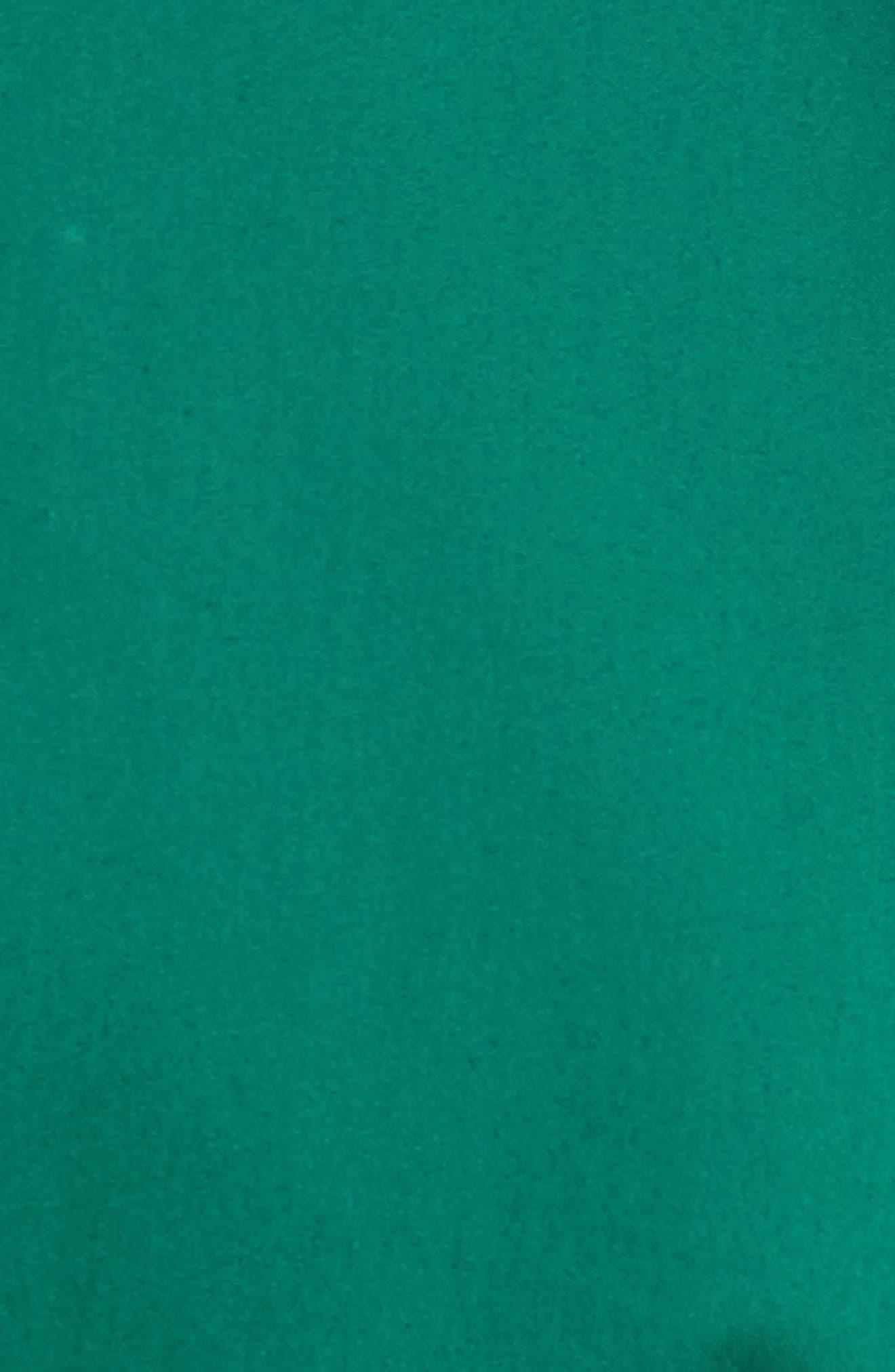 Cotton Blend Tie Dress,                             Alternate thumbnail 6, color,                             Emerald