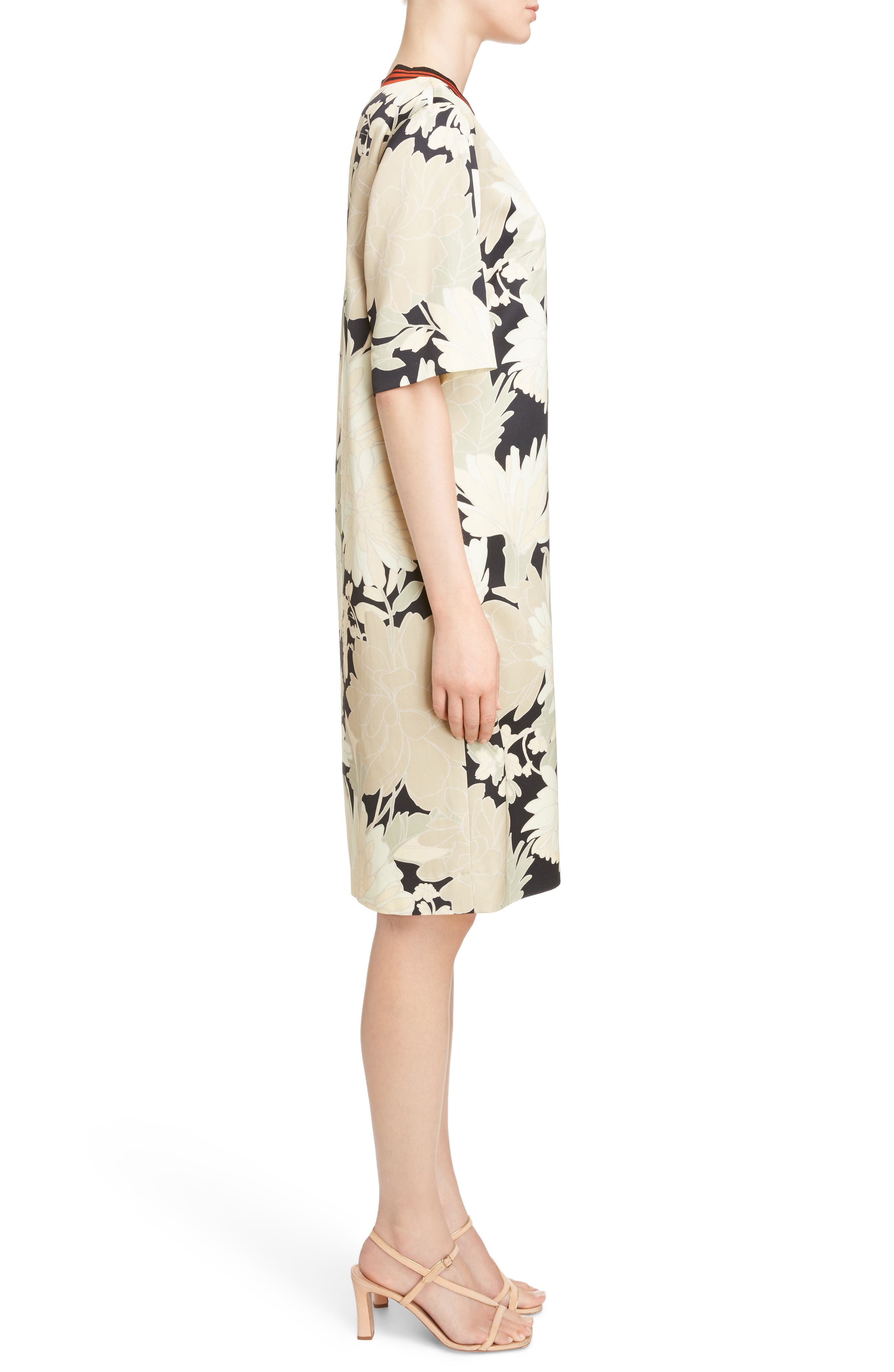 Alternate Image 3  - Dries Van Noten Knit Trim Floral Dress