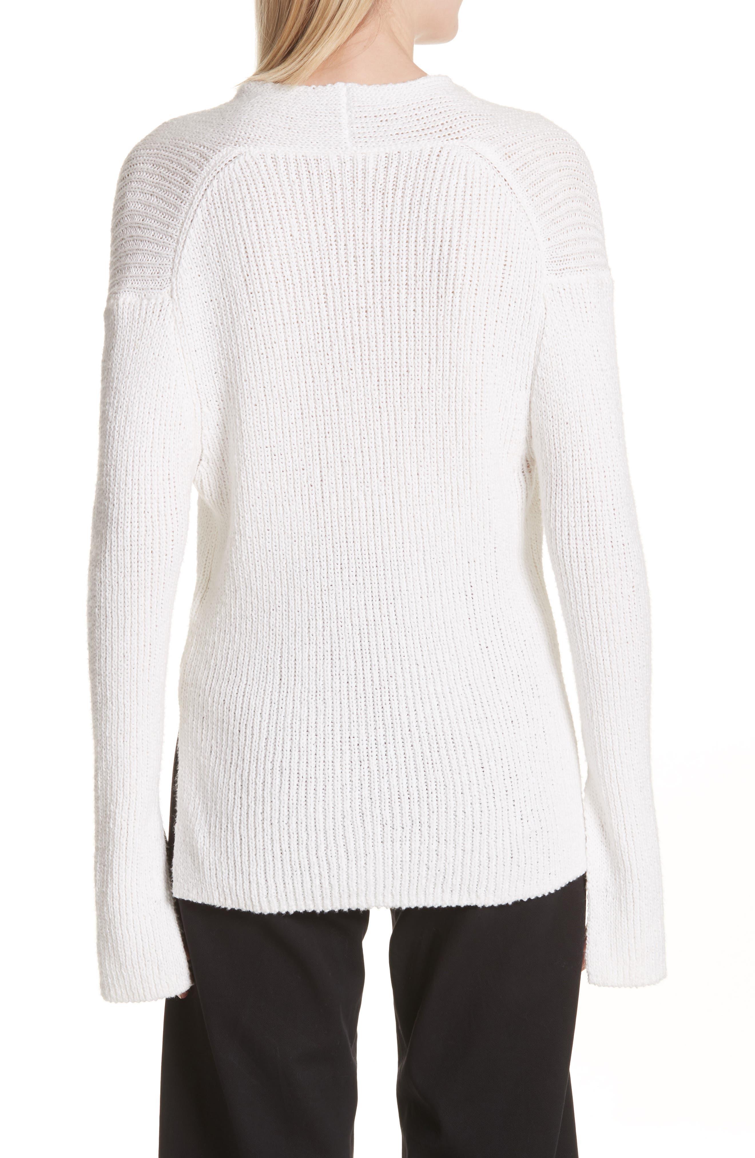 Nick Cotton Sweater,                             Alternate thumbnail 2, color,                             White