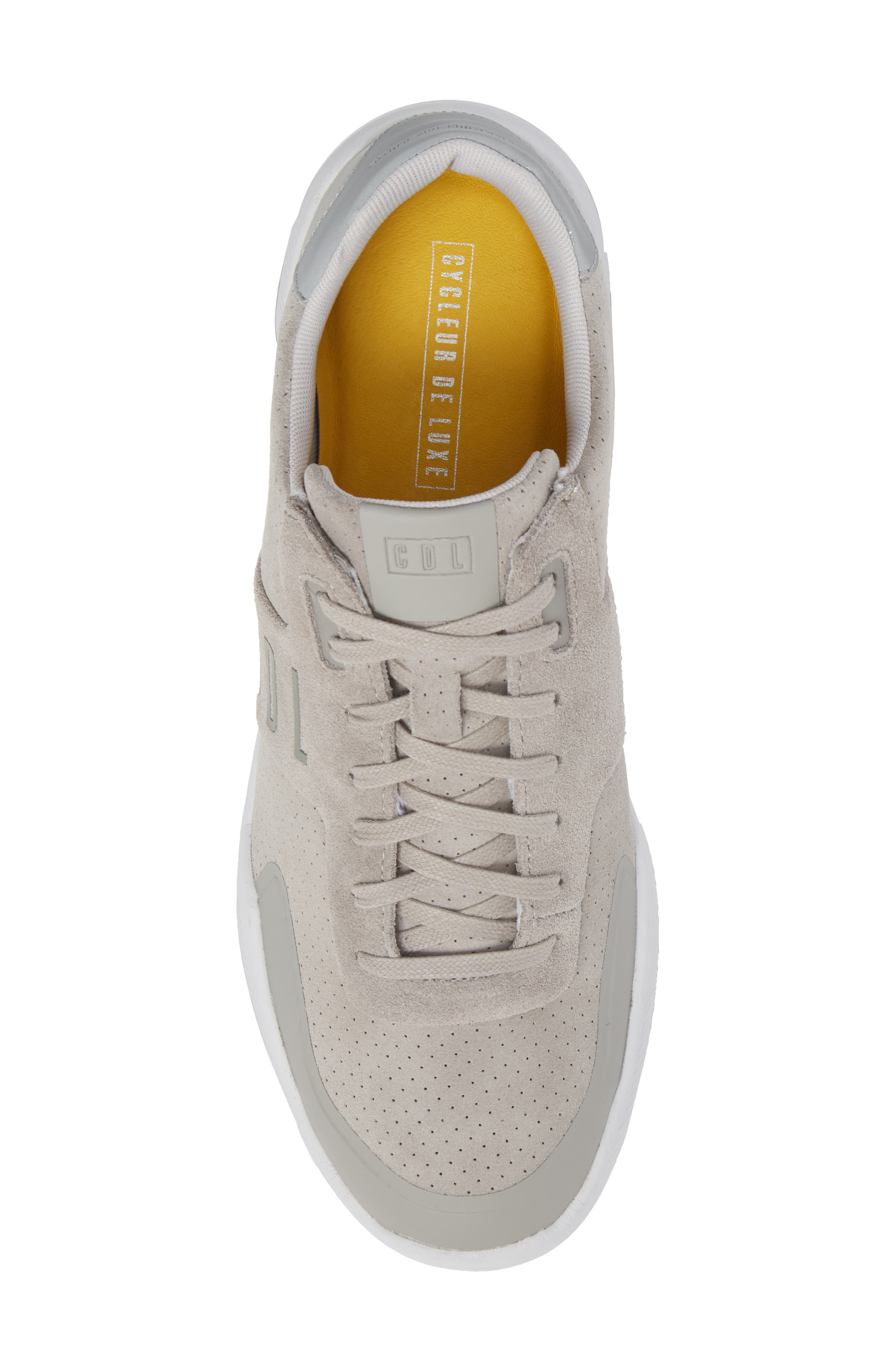 Shima Low Top Sneaker,                             Alternate thumbnail 5, color,                             Grey Suede
