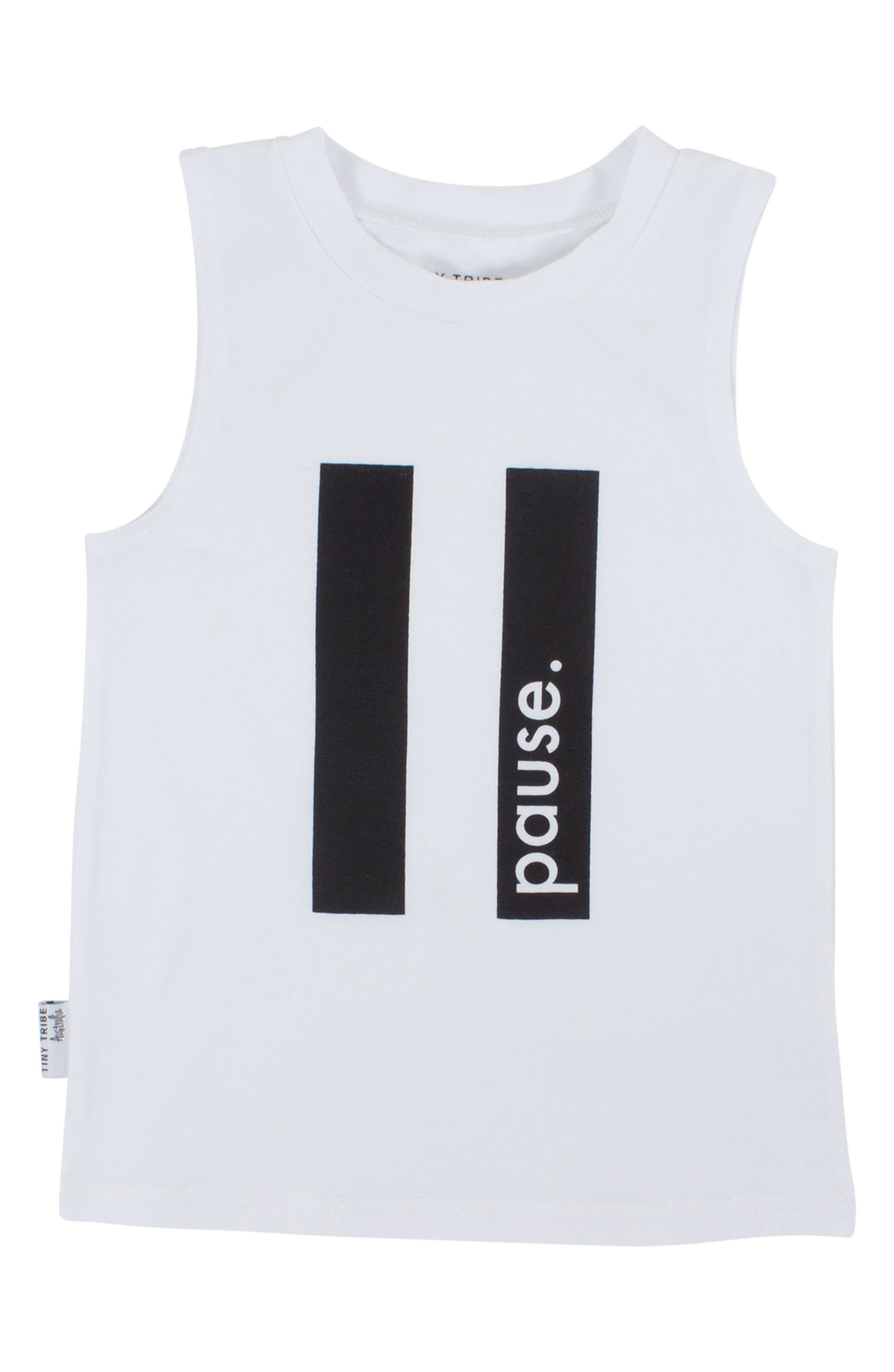 Pause Tank,                         Main,                         color, White
