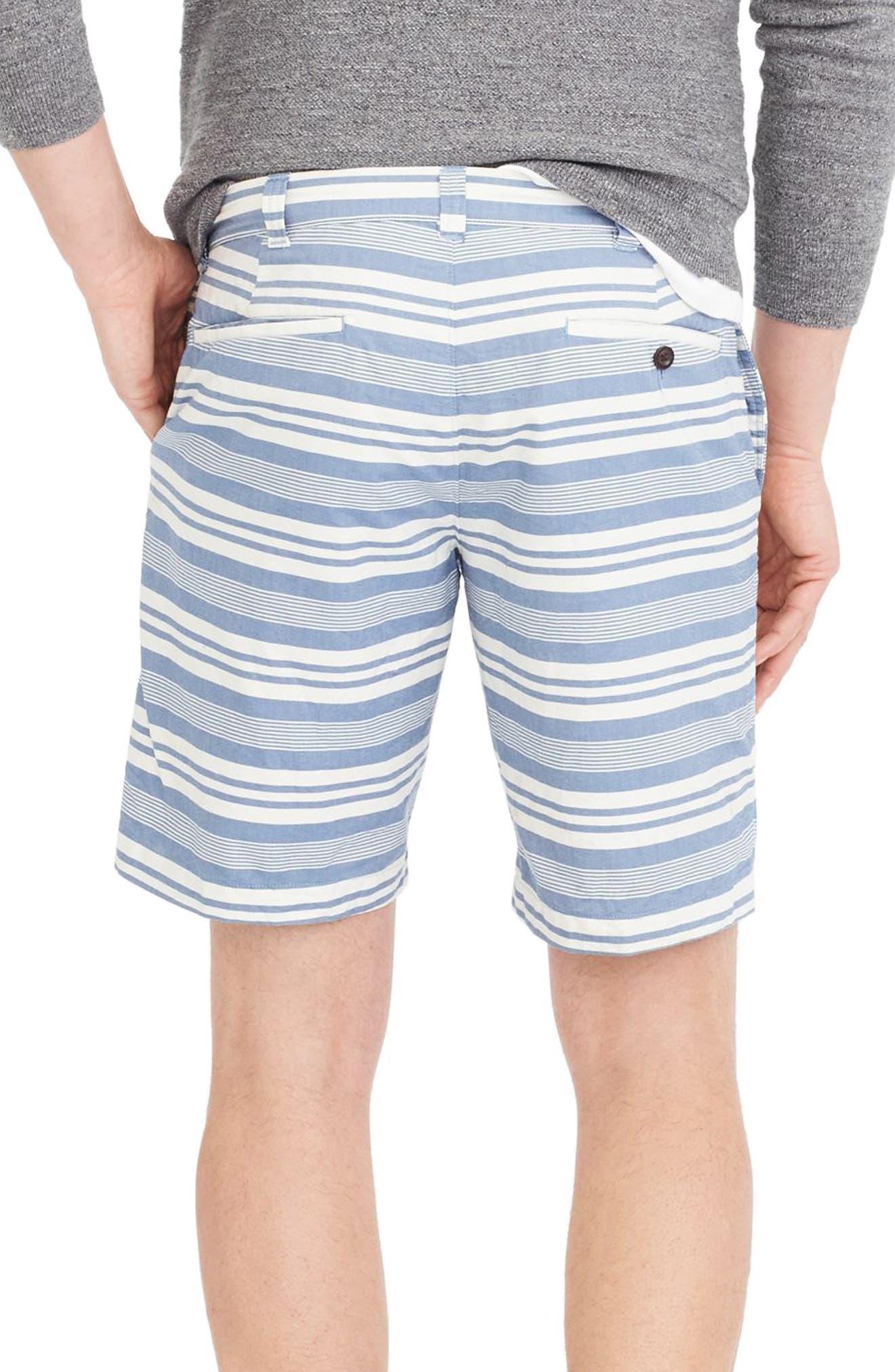 Stripe Oxford Shorts,                             Alternate thumbnail 2, color,                             White/ Blue