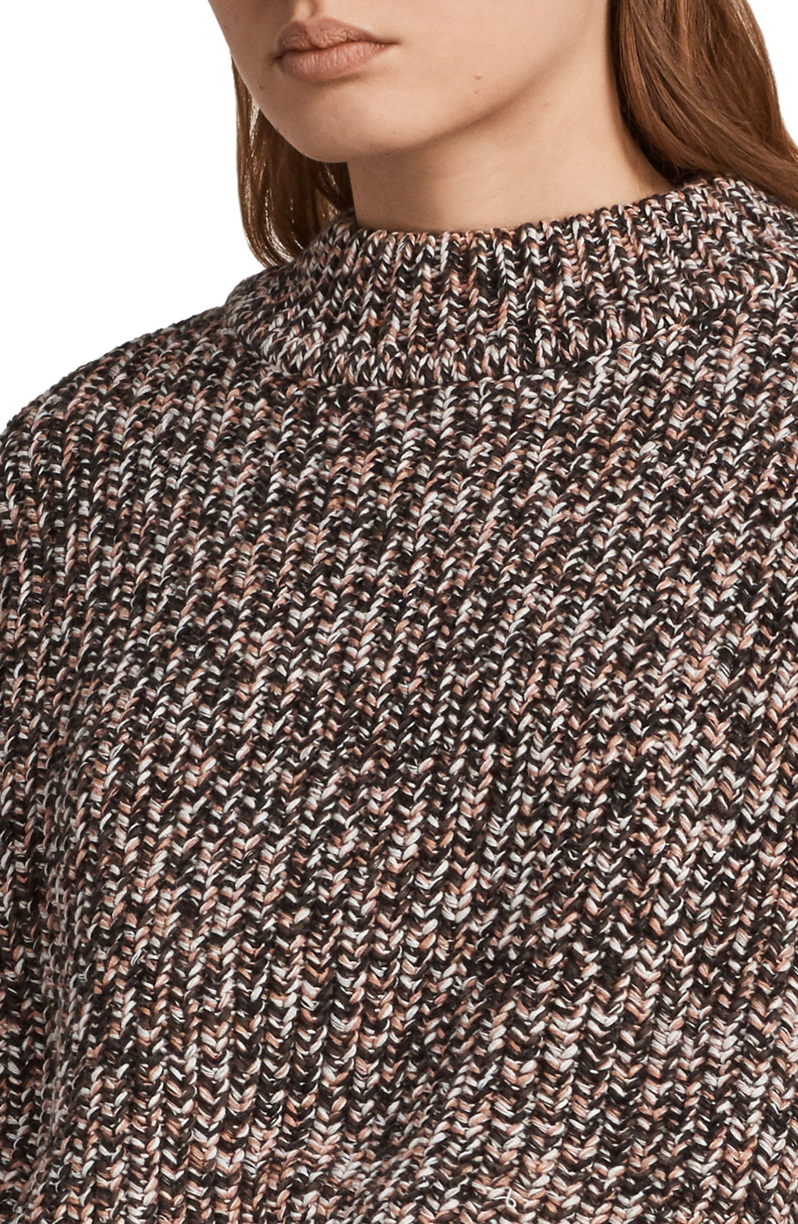Malu Knit Sweater,                             Alternate thumbnail 4, color,                             Pink Mix