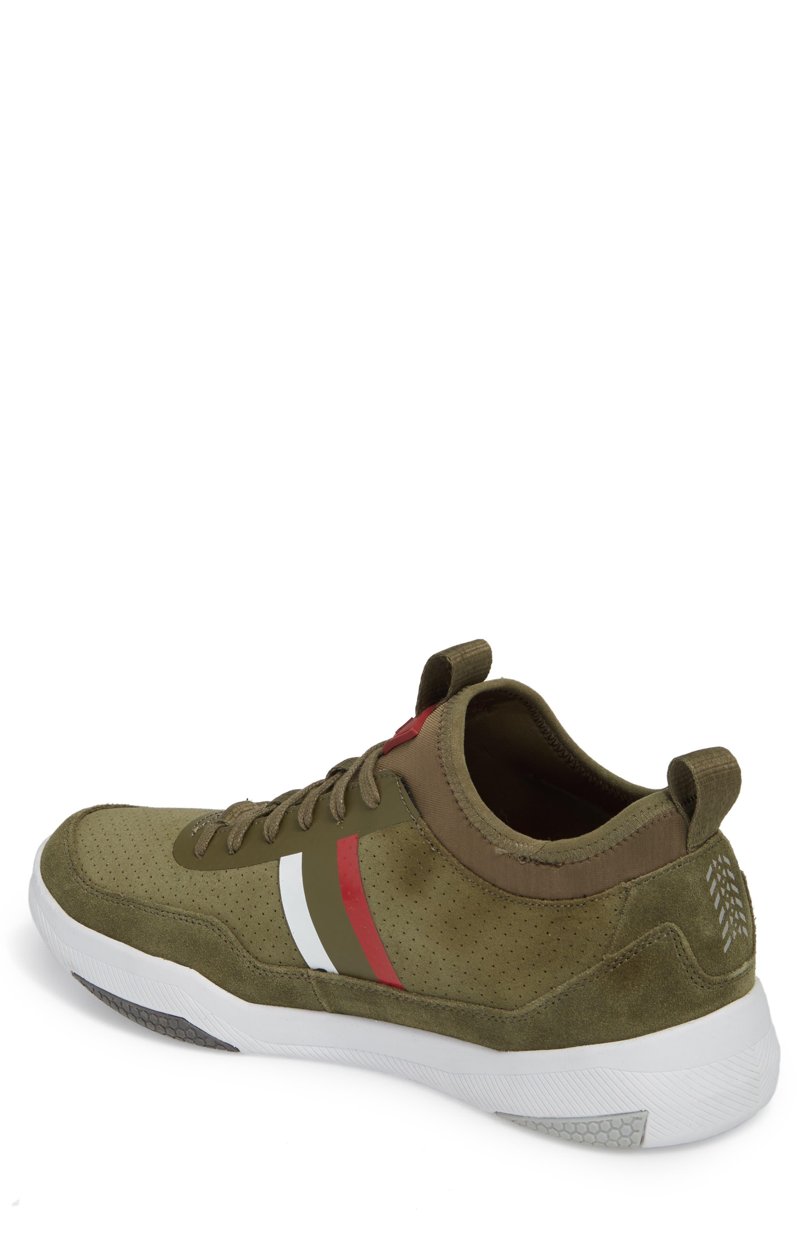 Shiro Hi Sock Fit Sneaker,                             Alternate thumbnail 2, color,                             Military Green Suede