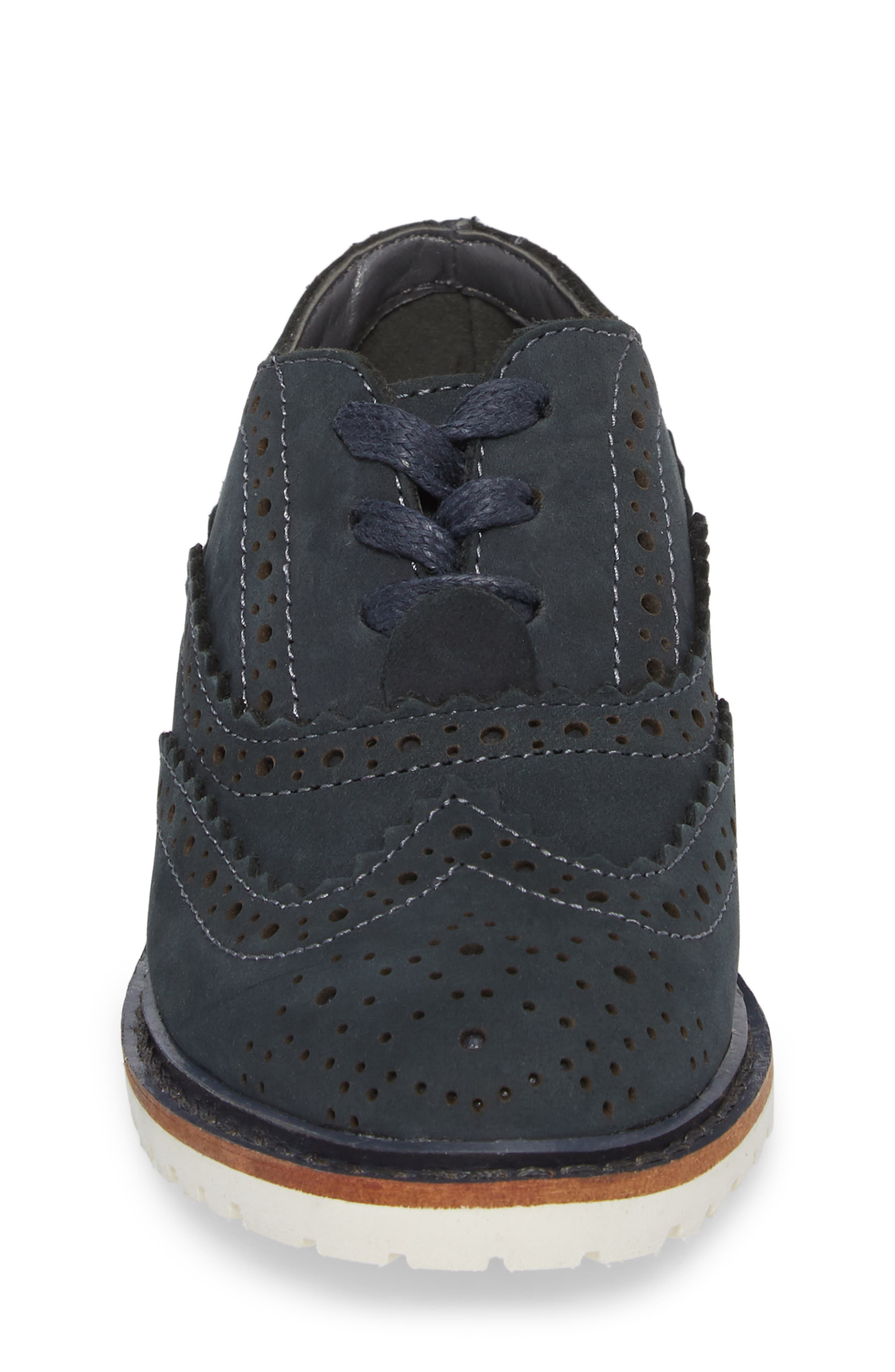 Wingtip Oxford,                             Alternate thumbnail 4, color,                             Navy