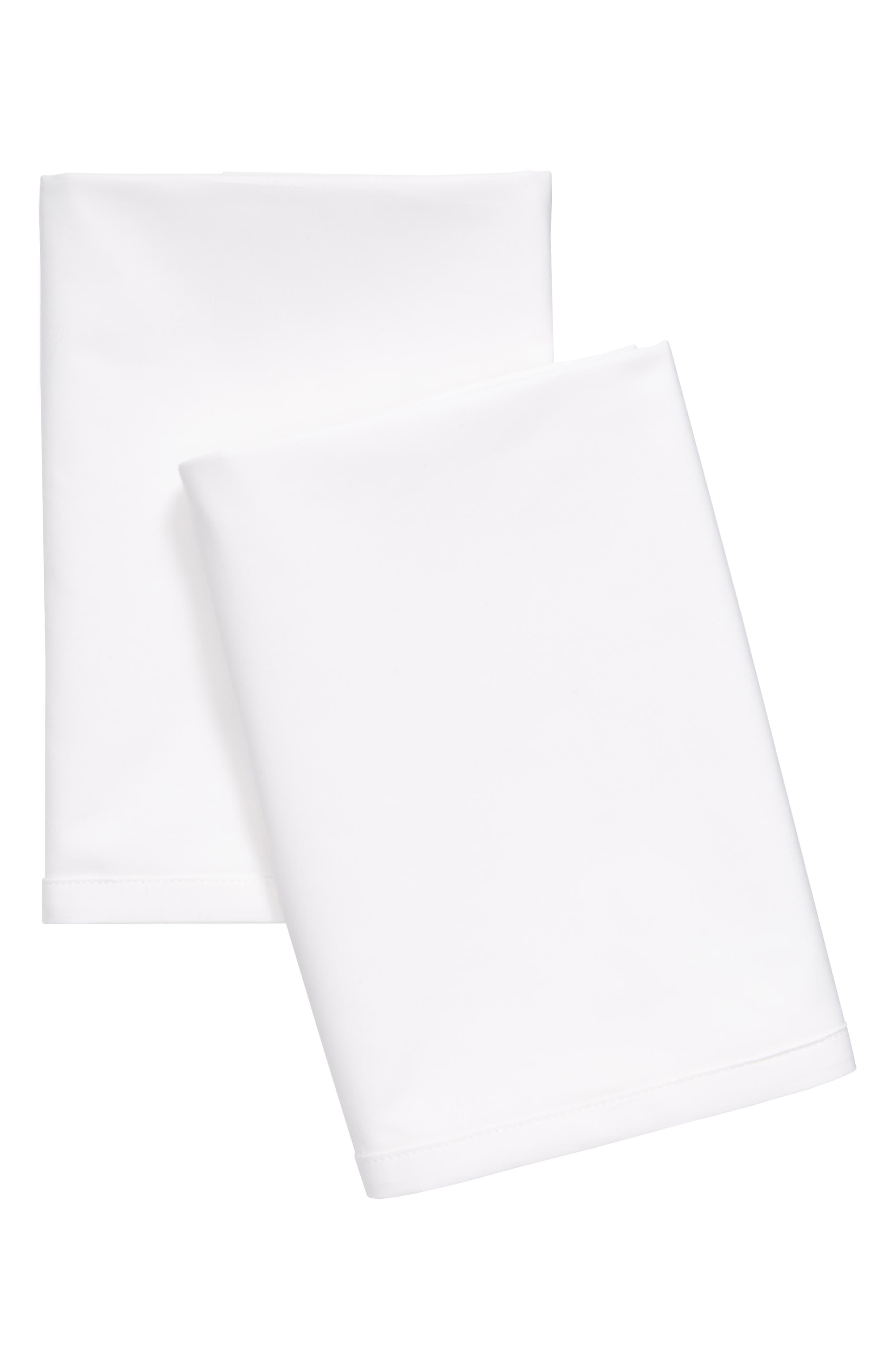 Home Clone 400 Thread Count Pillowcases,                             Main thumbnail 1, color,                             White
