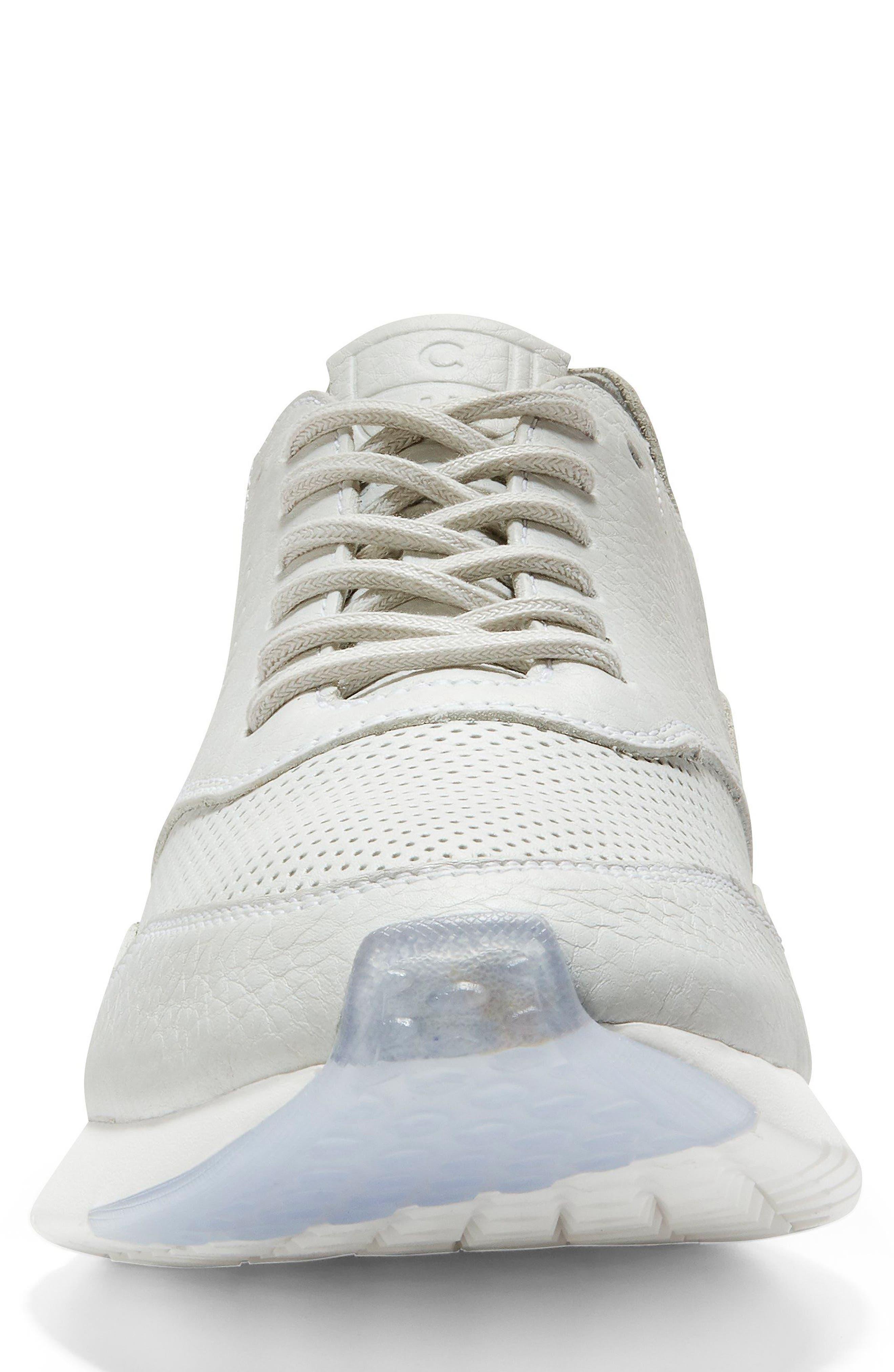 GrandPrø Deconstructed Running Sneaker,                             Alternate thumbnail 4, color,                             White Leather