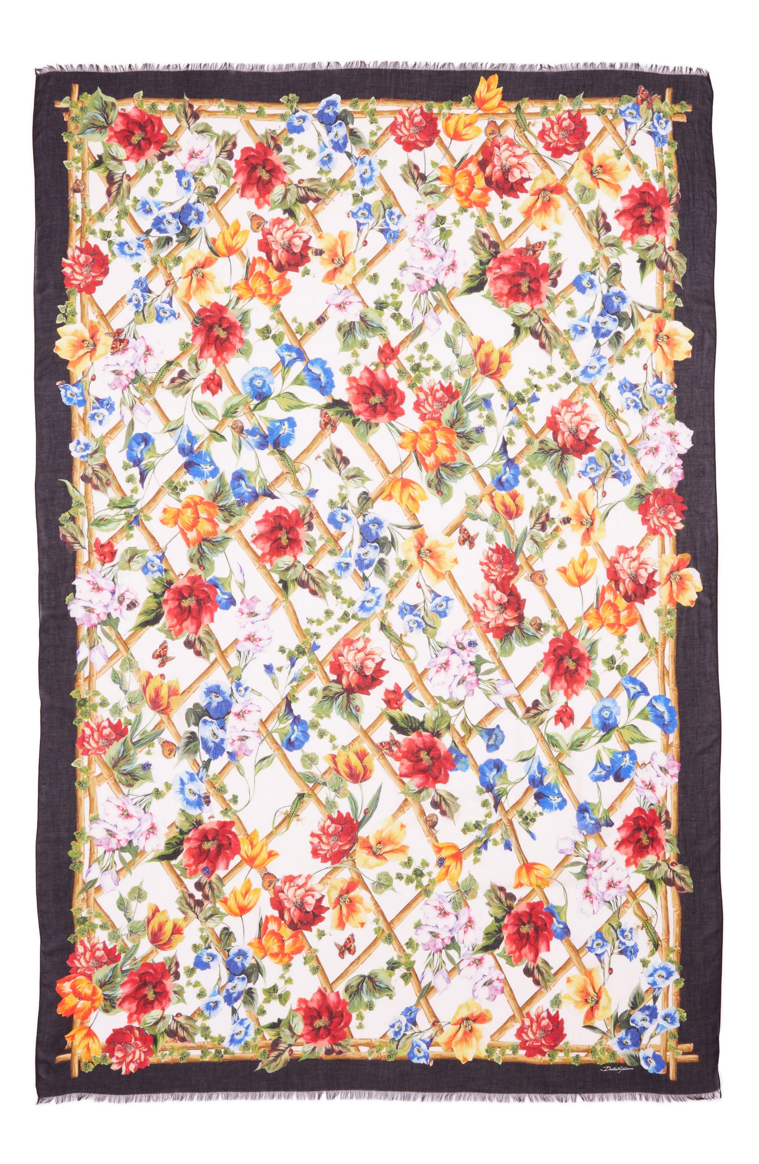 Dolce&Gabbana Floral Bamboo Scarf