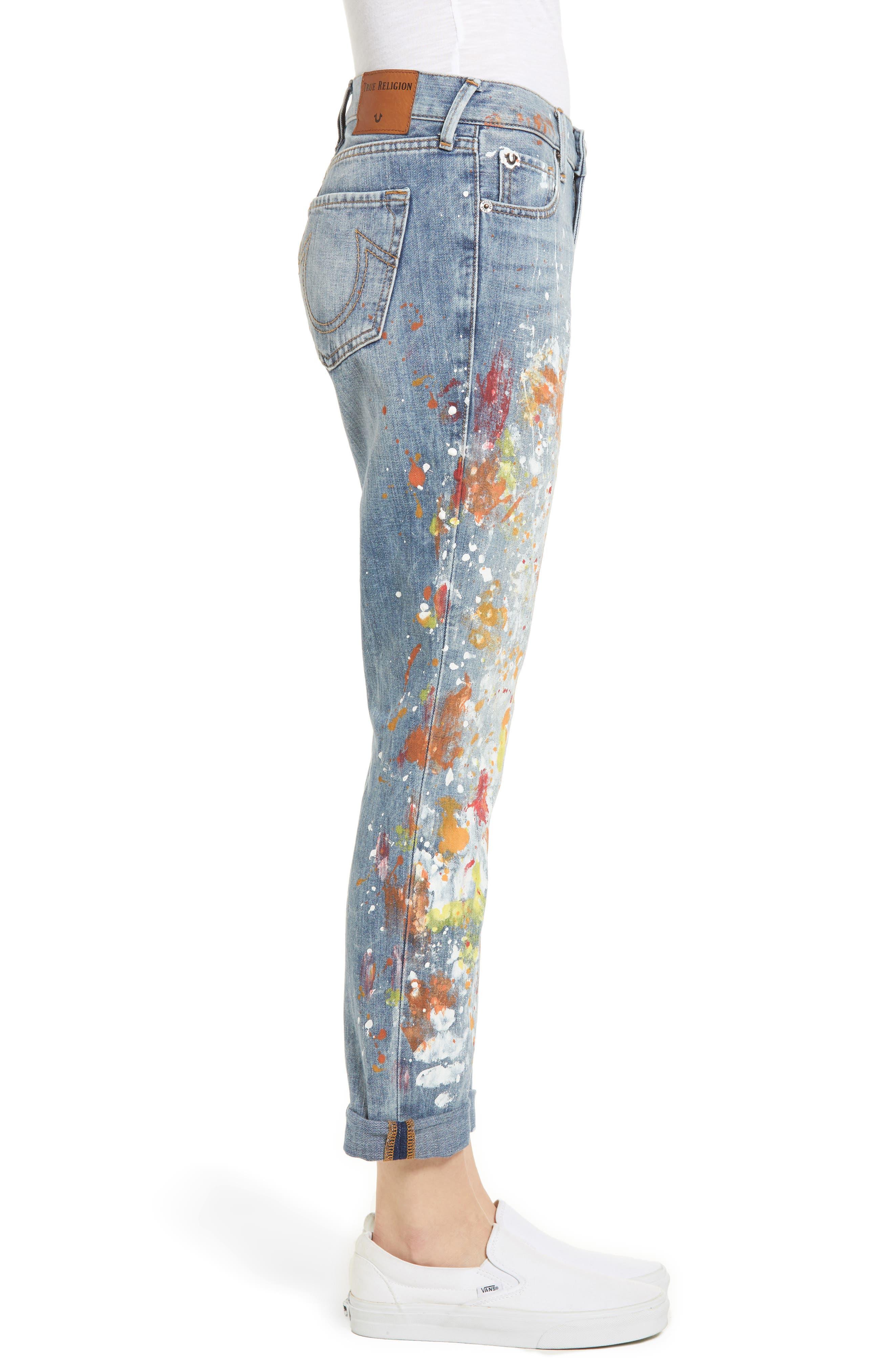 Cameron Slim Boyfriend Jeans,                             Alternate thumbnail 3, color,                             Erwm Popm Art
