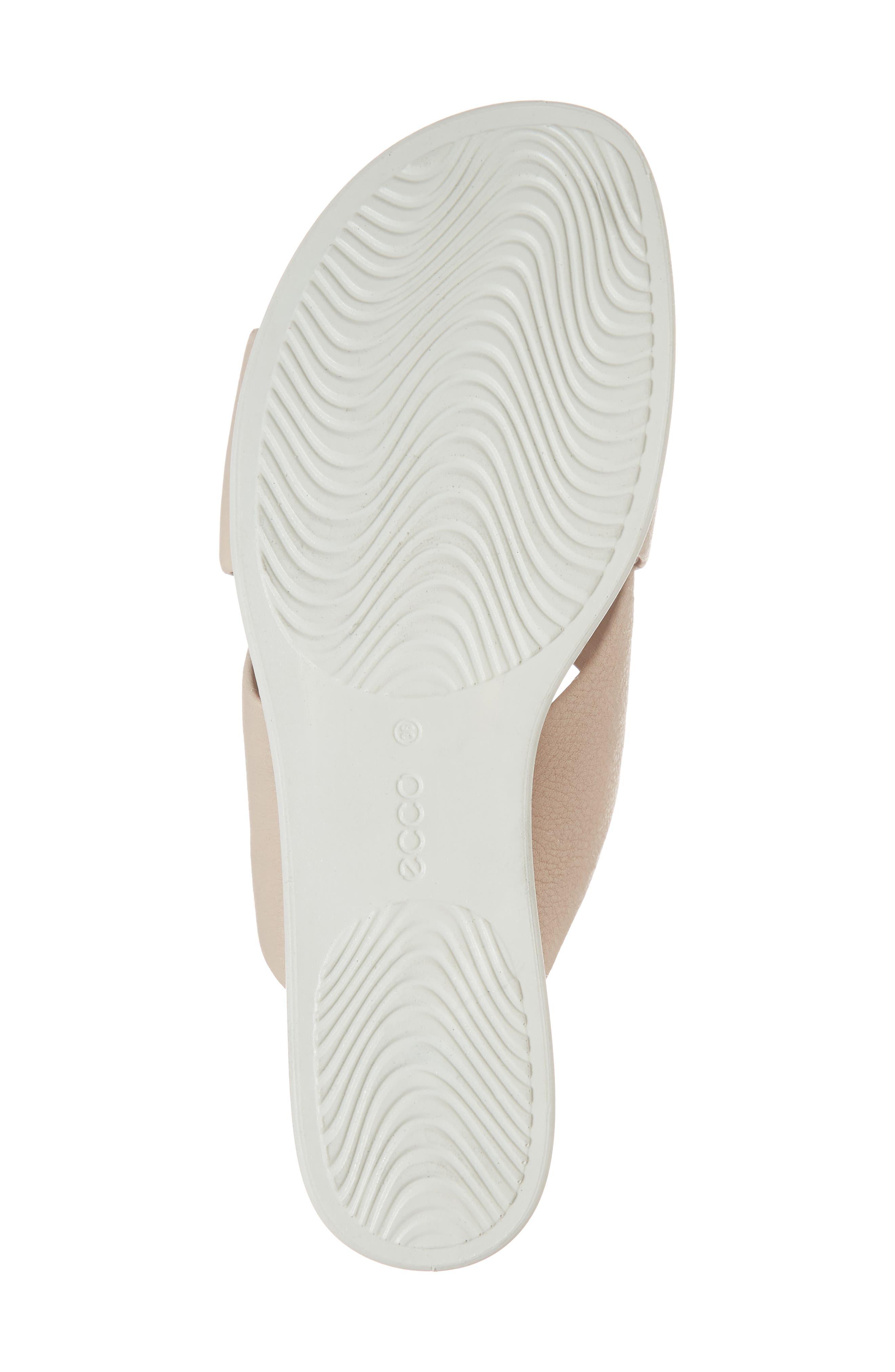 Touch Slide Sandal,                             Alternate thumbnail 6, color,                             Rose Dust Leather