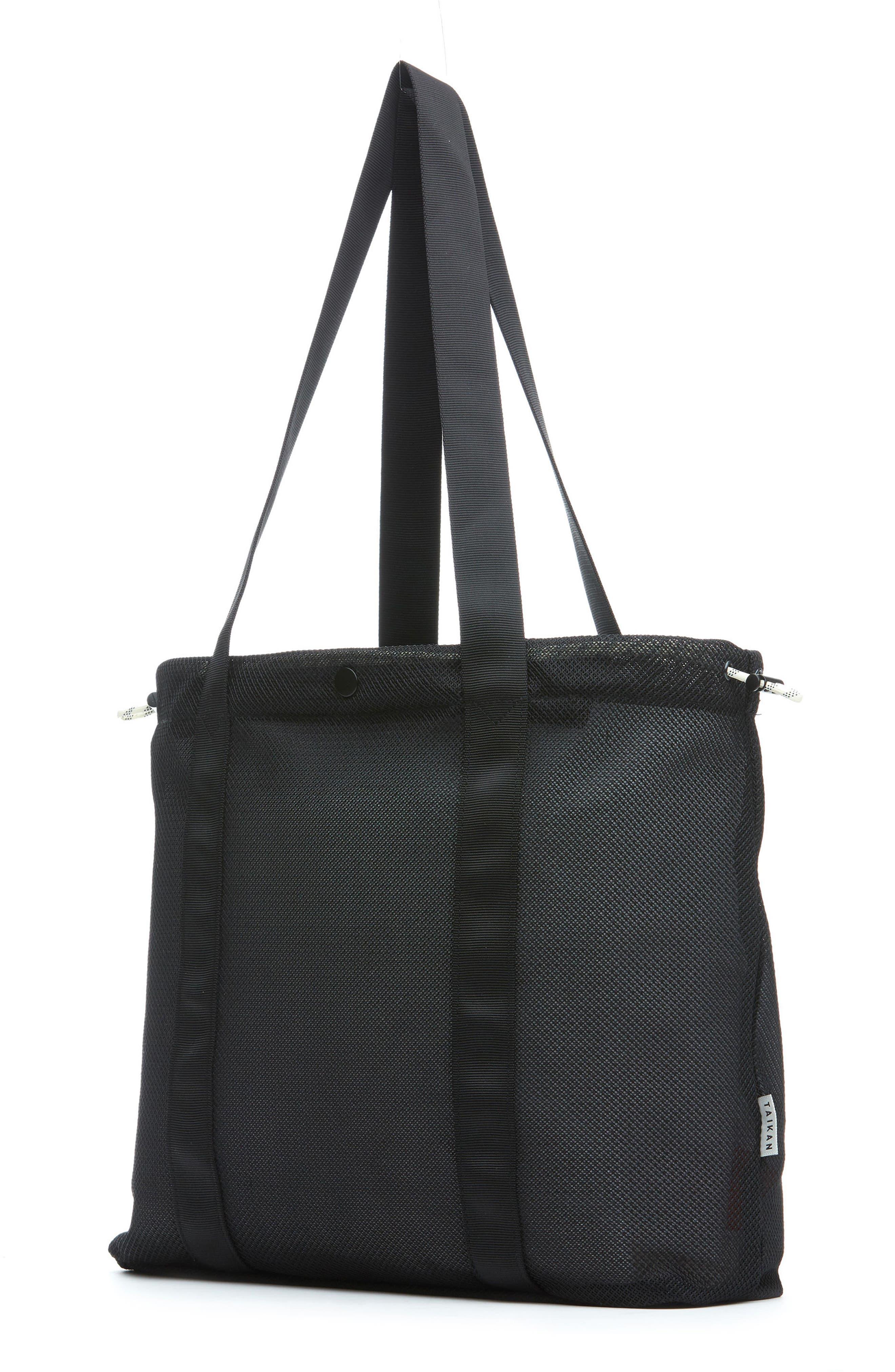 Flanker Mesh Tote Bag,                             Alternate thumbnail 2, color,                             Black Mesh