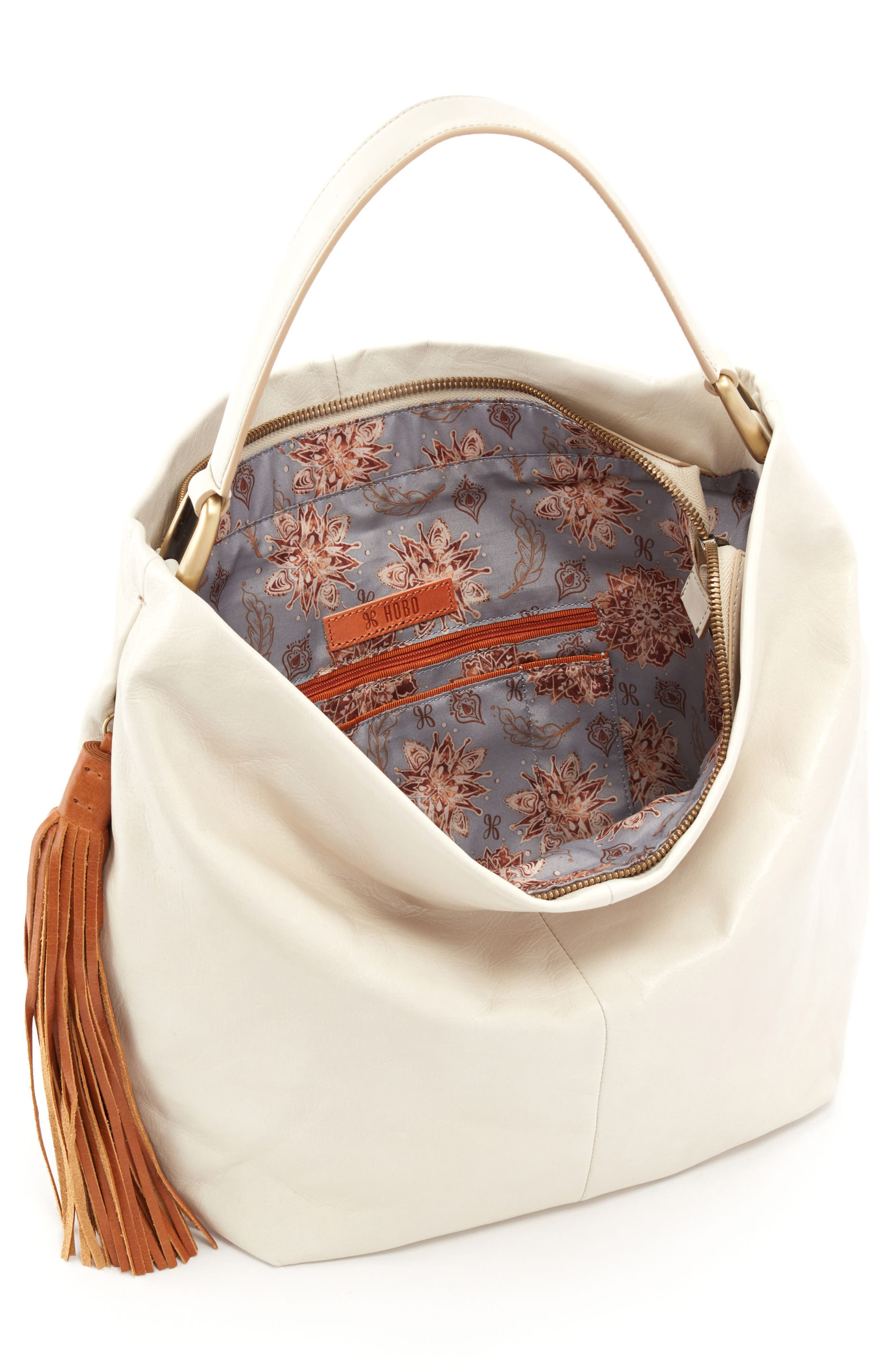 Meridian Leather Hobo,                             Alternate thumbnail 3, color,                             Magnolia