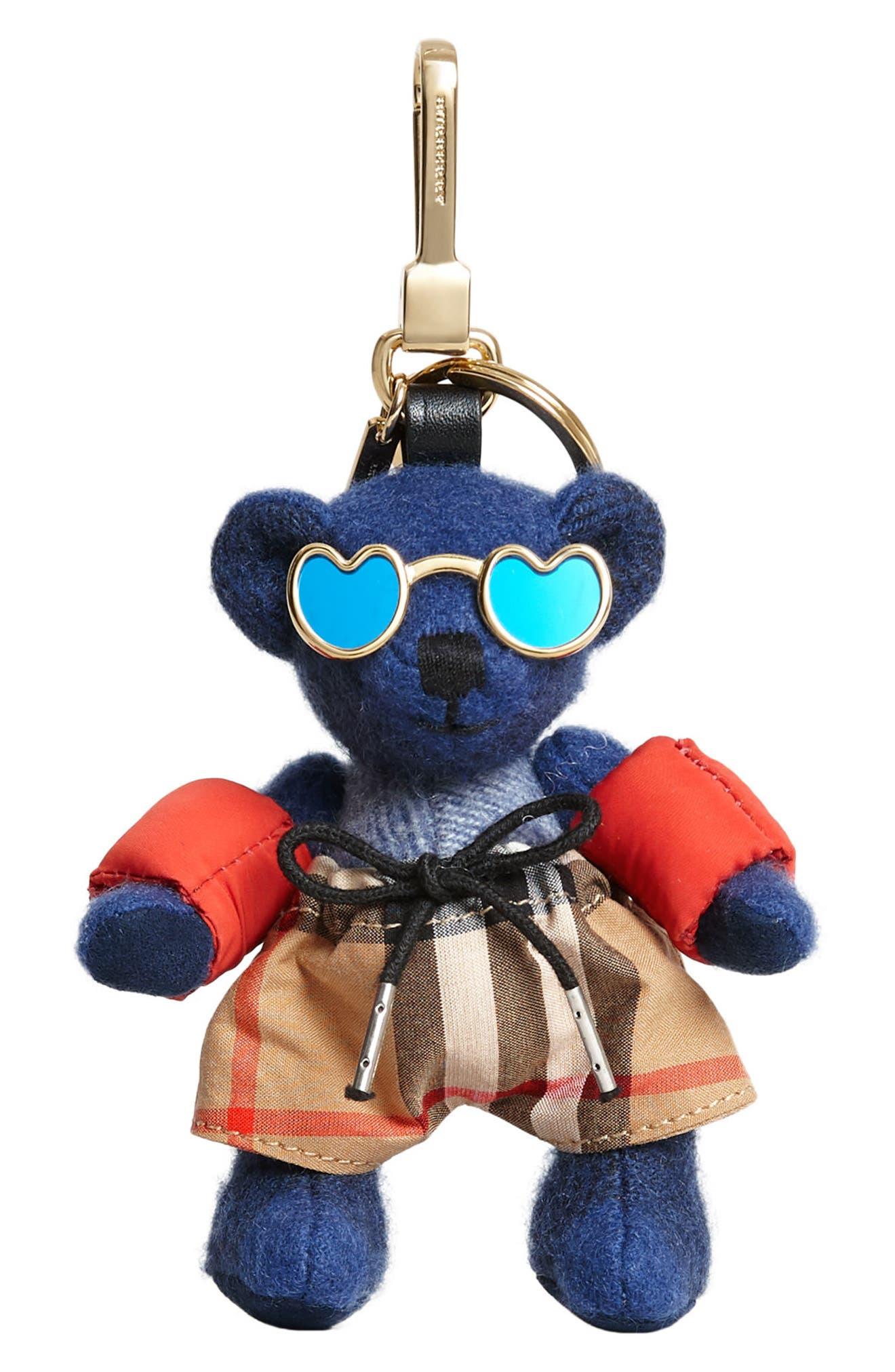 Thomas Bear Beach Bag Charm,                         Main,                         color, Cadet Blue