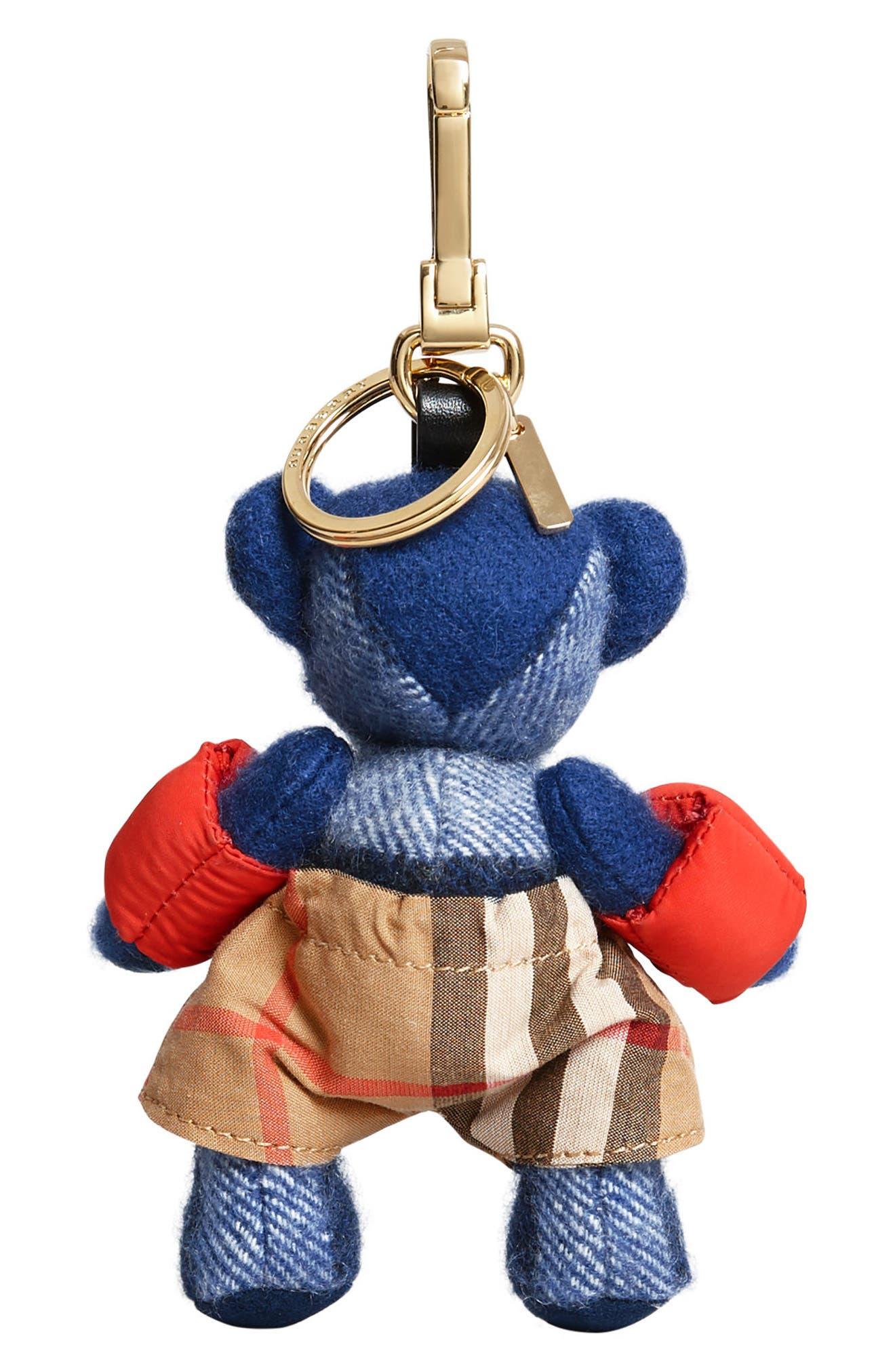 Thomas Bear Beach Bag Charm,                             Alternate thumbnail 3, color,                             Cadet Blue