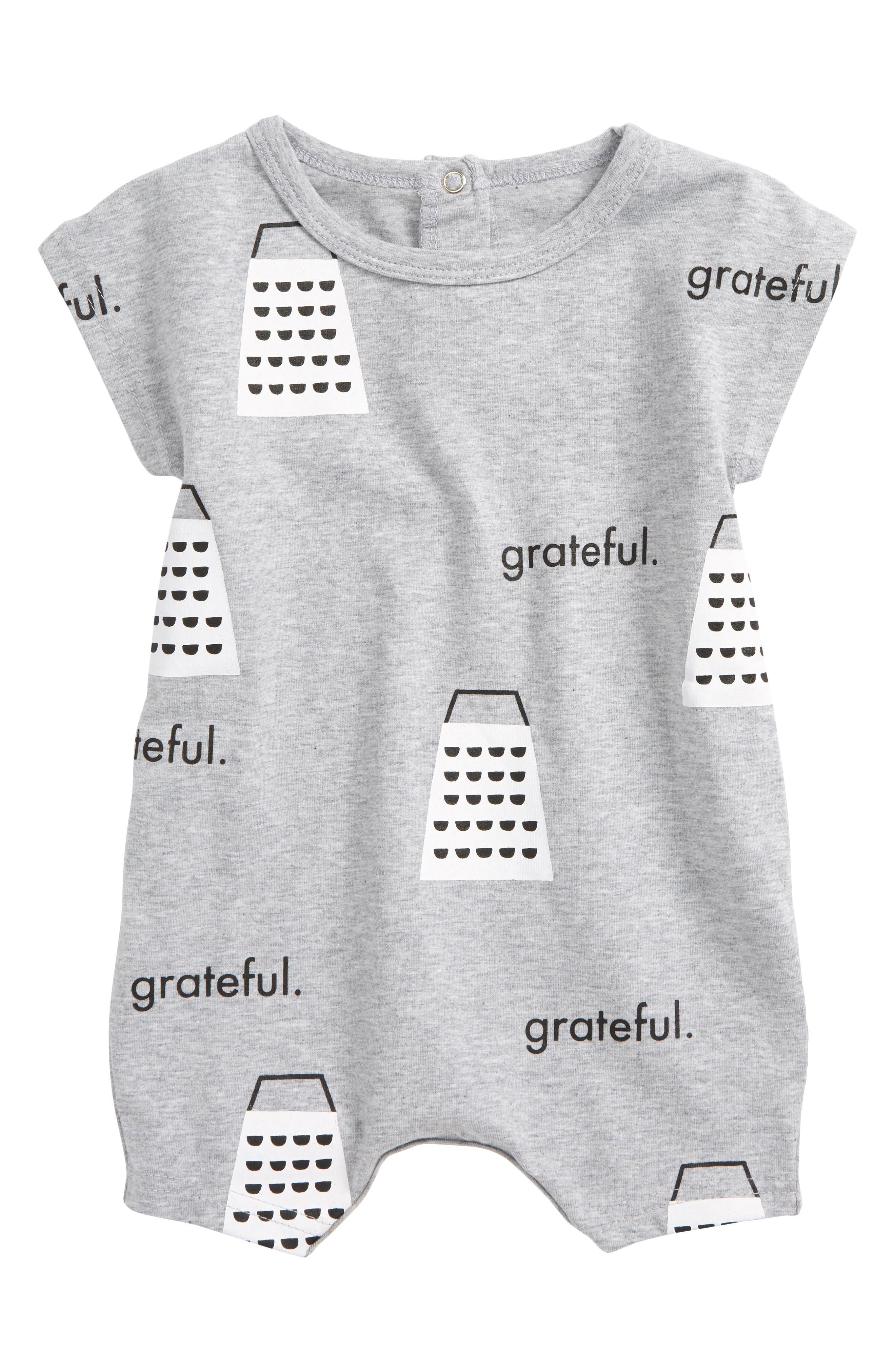 Grateful Romper,                         Main,                         color, Grey