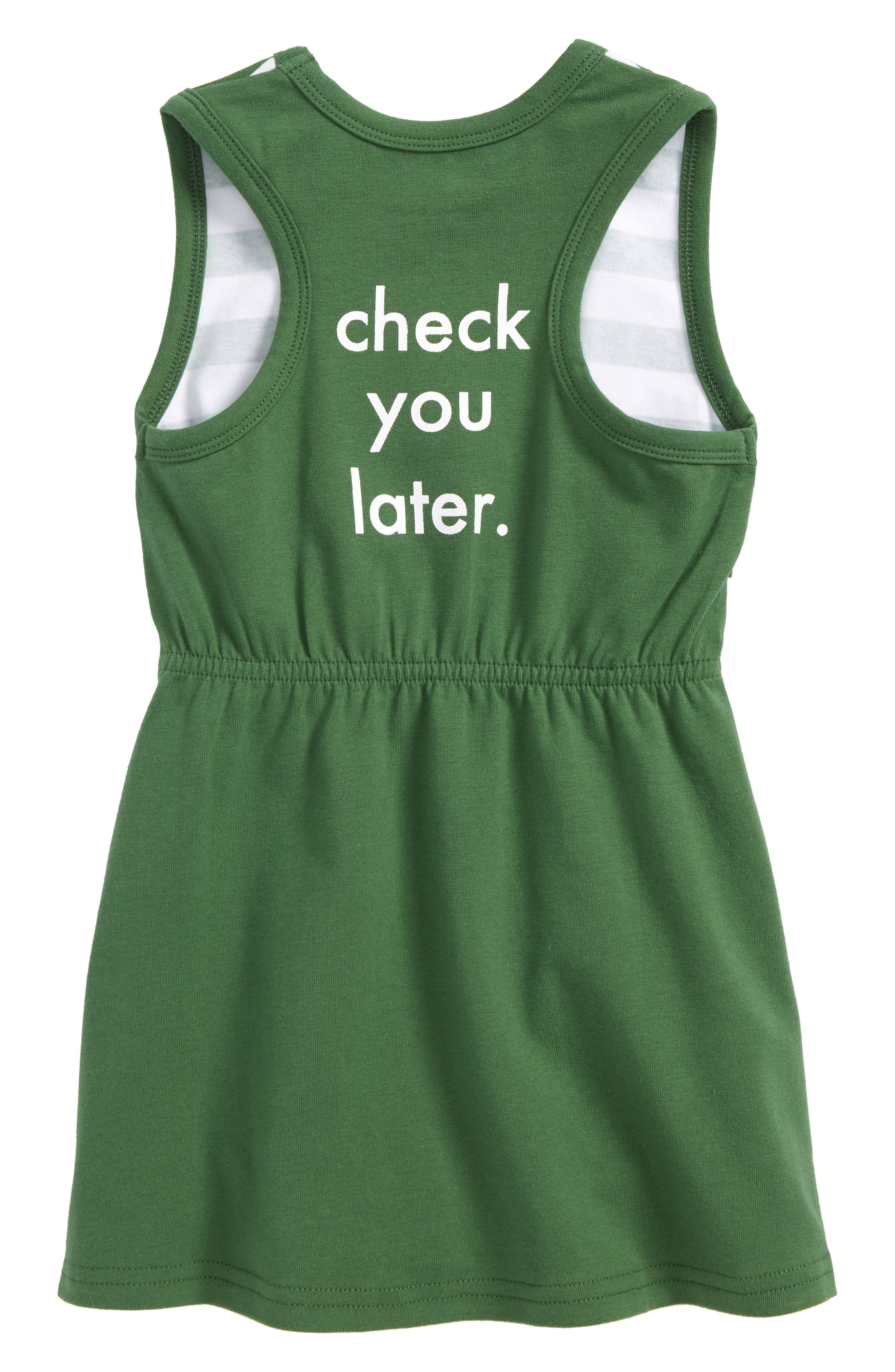 Check You Later Racerback Dress,                             Alternate thumbnail 2, color,                             Green
