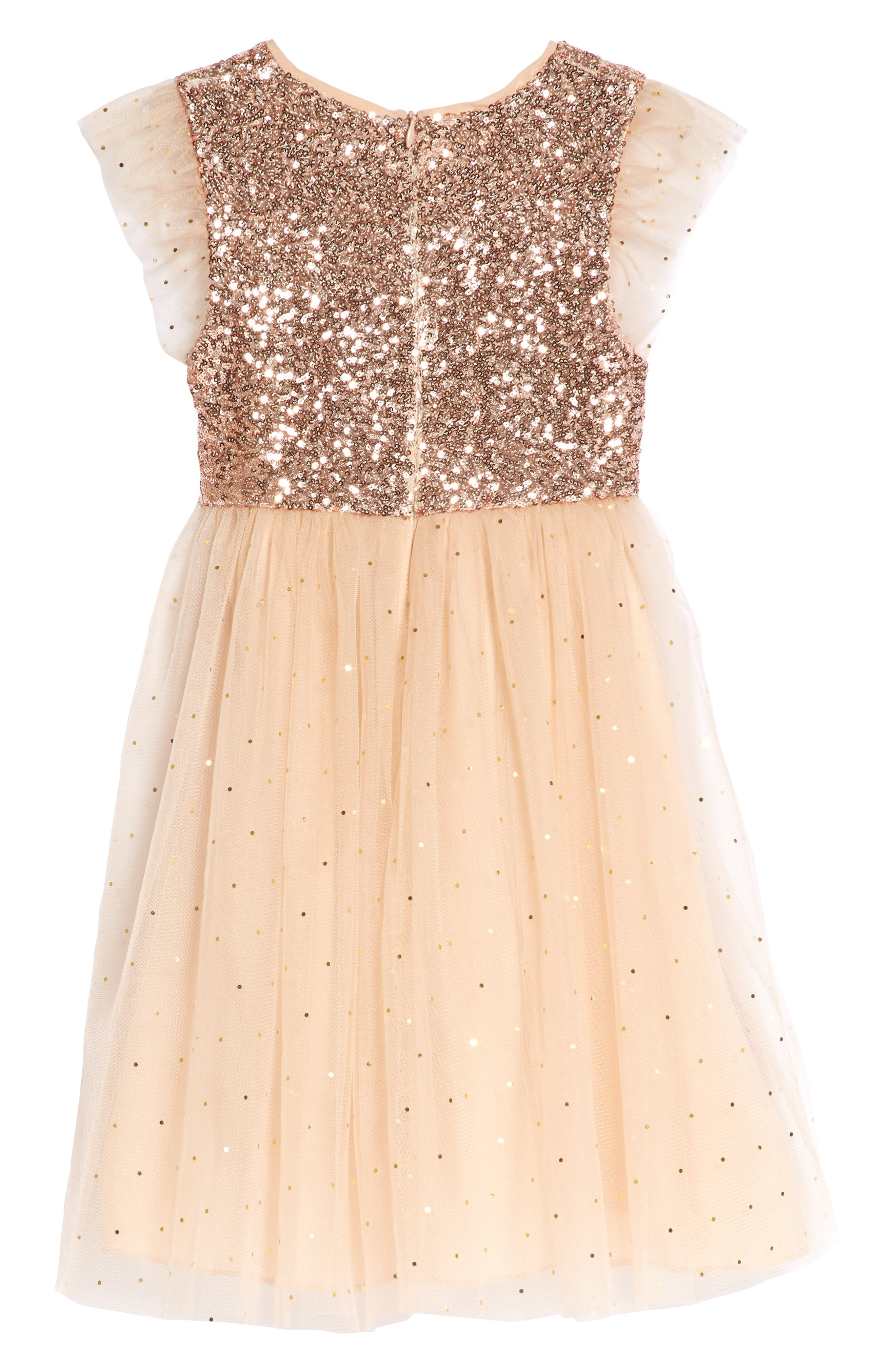 Glitter Moon Dress,                             Alternate thumbnail 2, color,                             Peach
