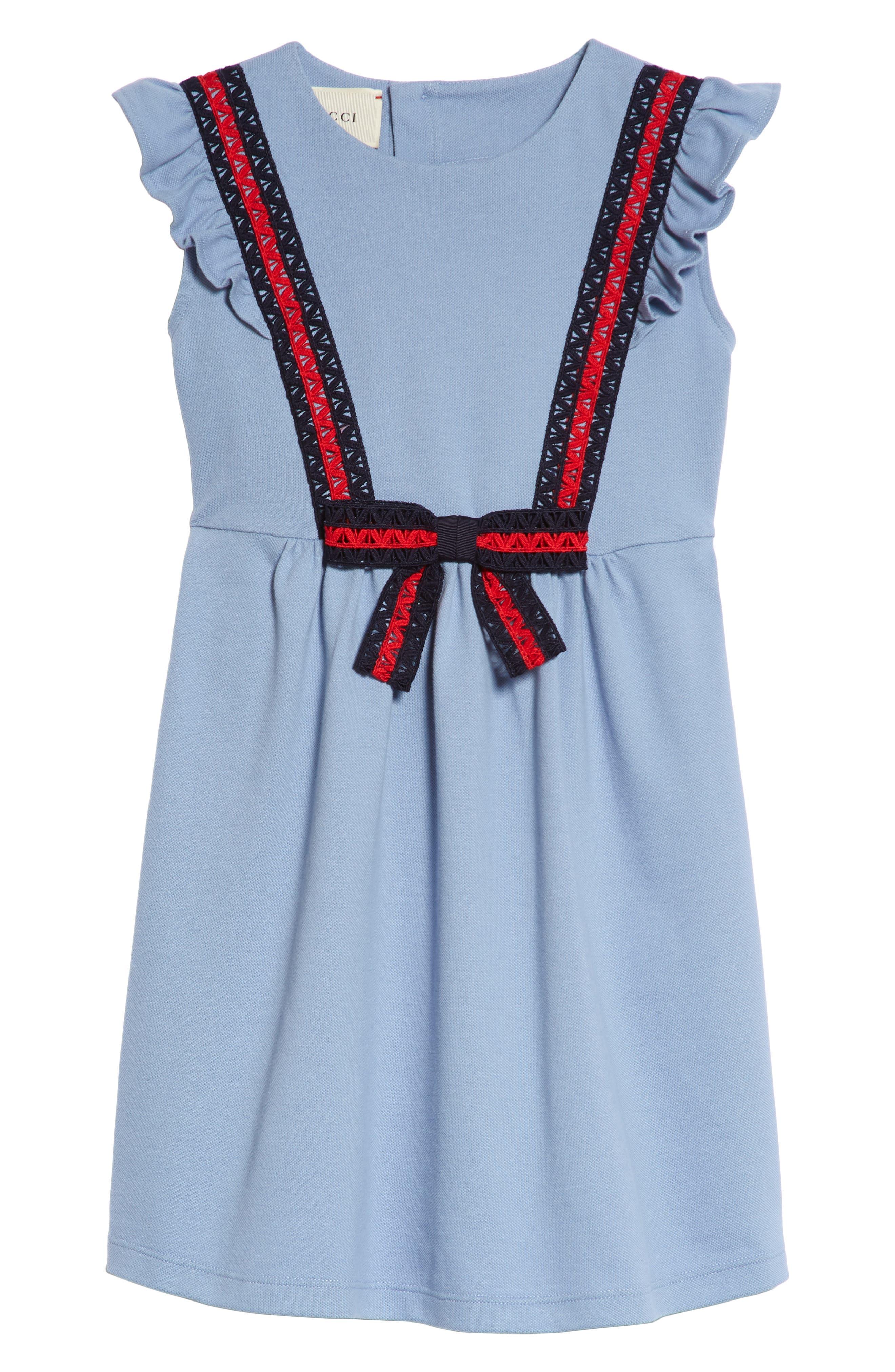 Alternate Image 1 Selected - Gucci Piqué Dress (Little Girls & Big Girls)