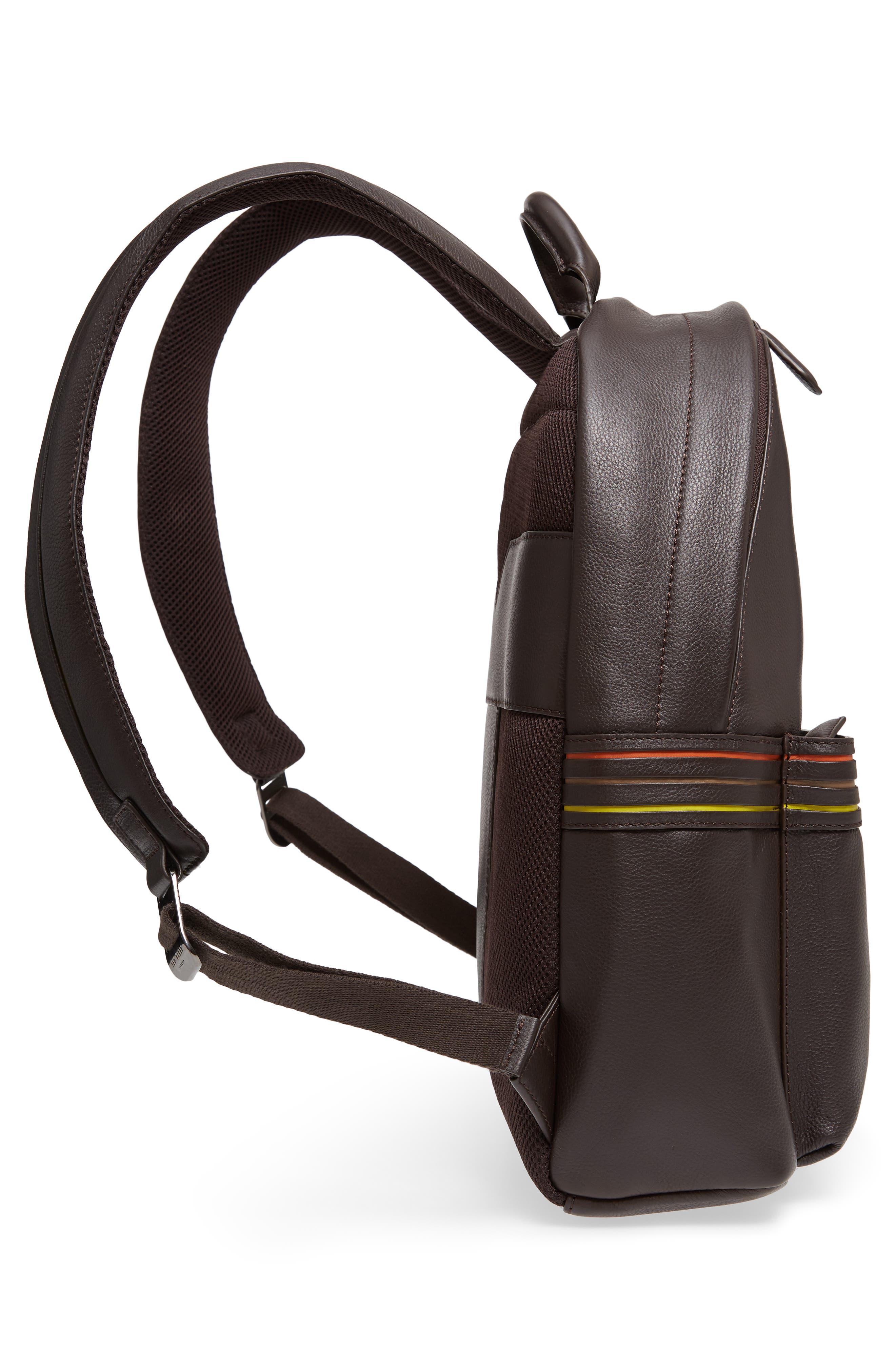 Huntman Stripe Backpack,                             Alternate thumbnail 5, color,                             Chocolate