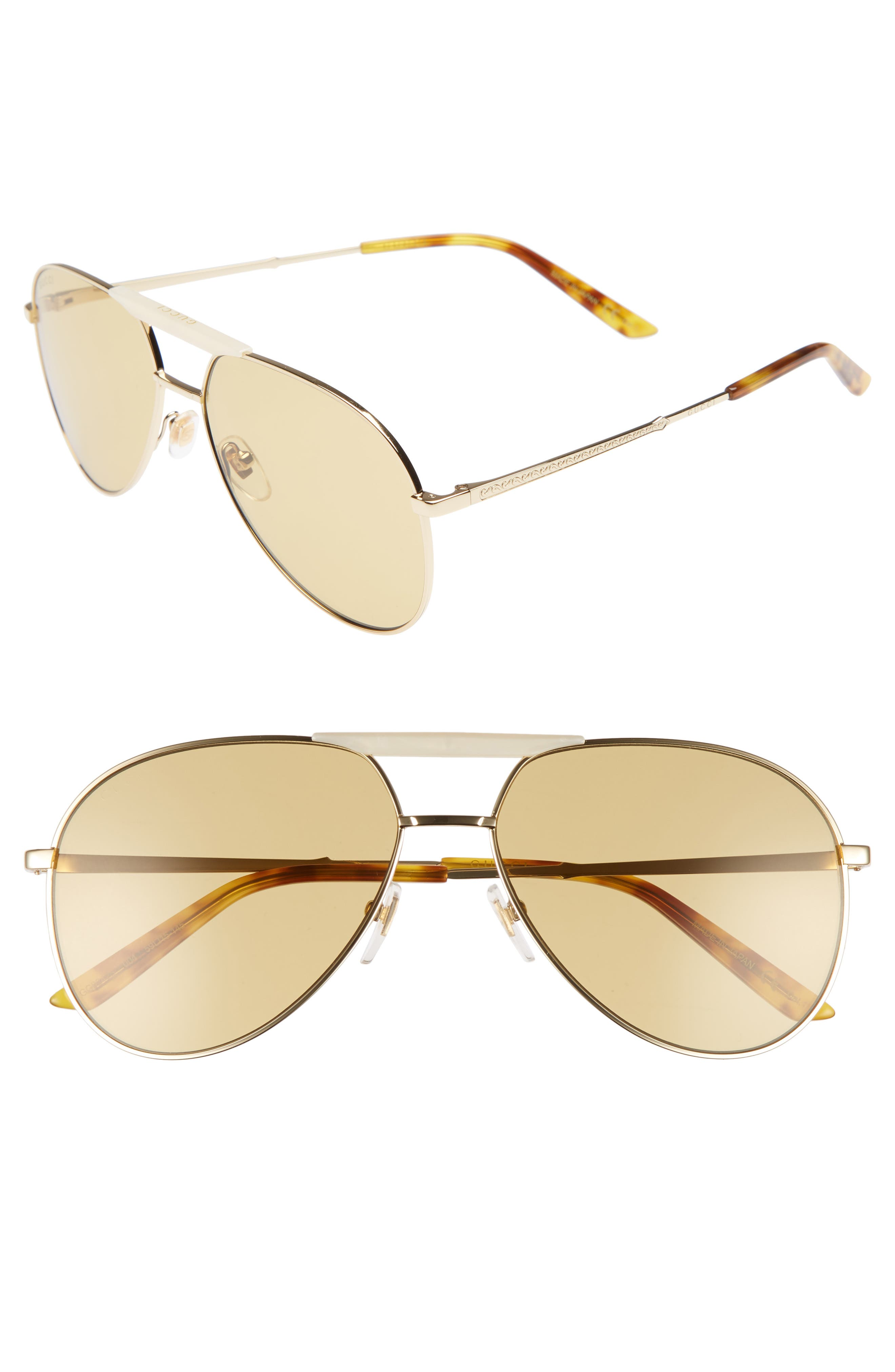 Main Image - Gucci Cruise 59mm Aviator Sunglasses