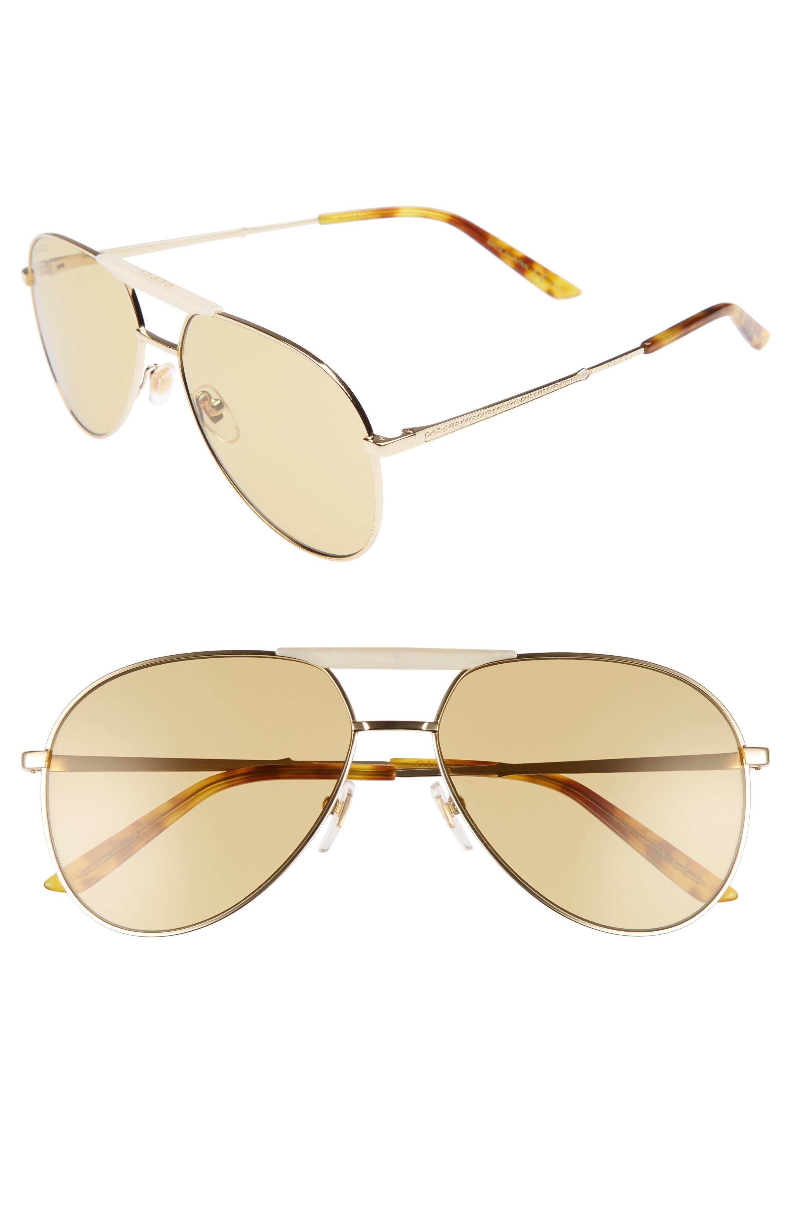 Cruise 59mm Aviator Sunglasses,                         Main,                         color, Gold/ Honey Havana