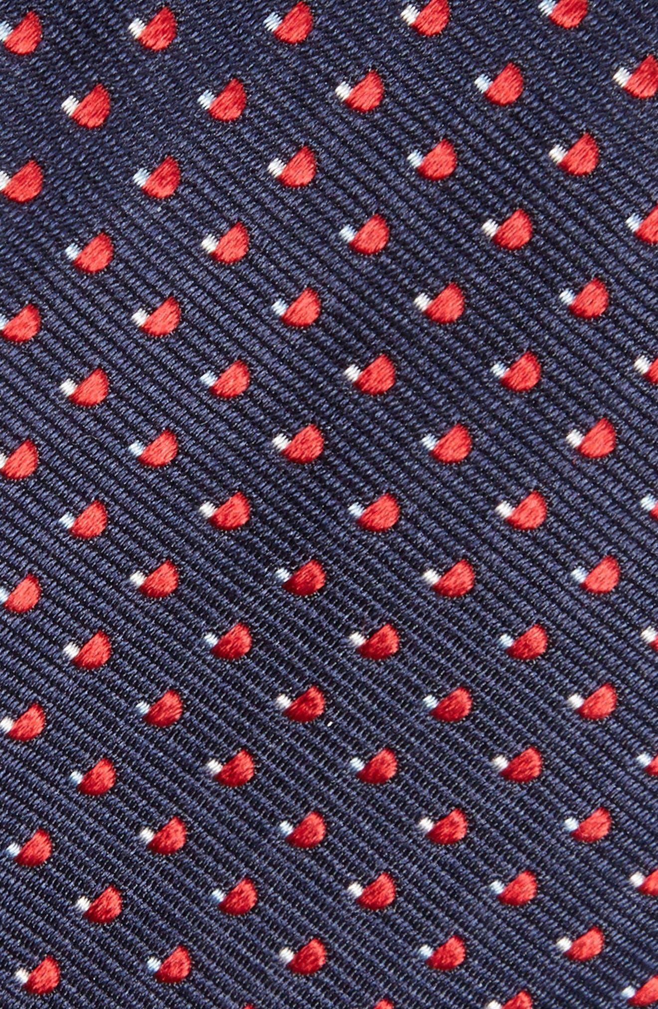 Geometric Silk Tie,                             Alternate thumbnail 3, color,                             Navy