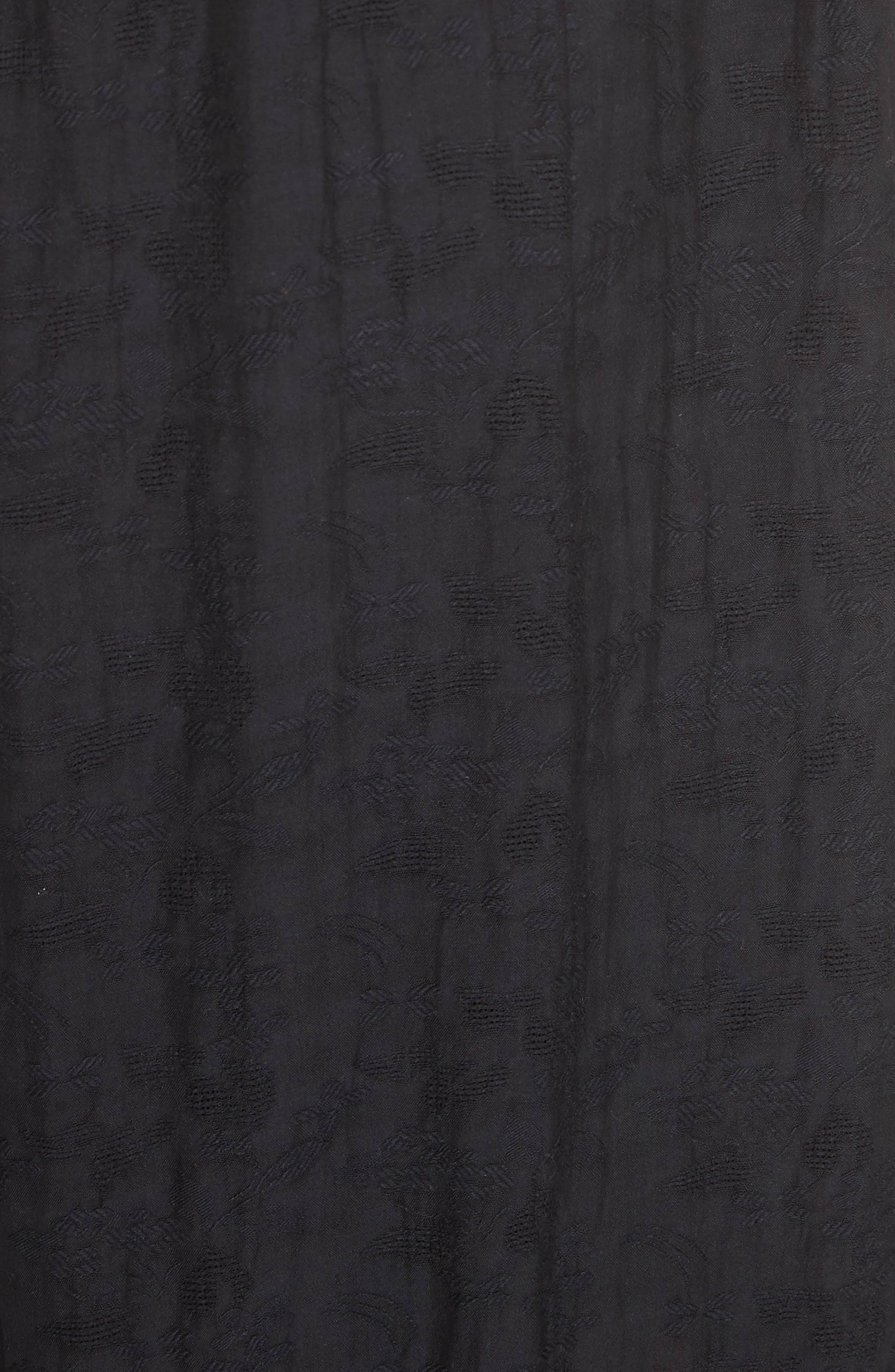 Rosebud Top & Skirt,                             Alternate thumbnail 5, color,                             Black Combo