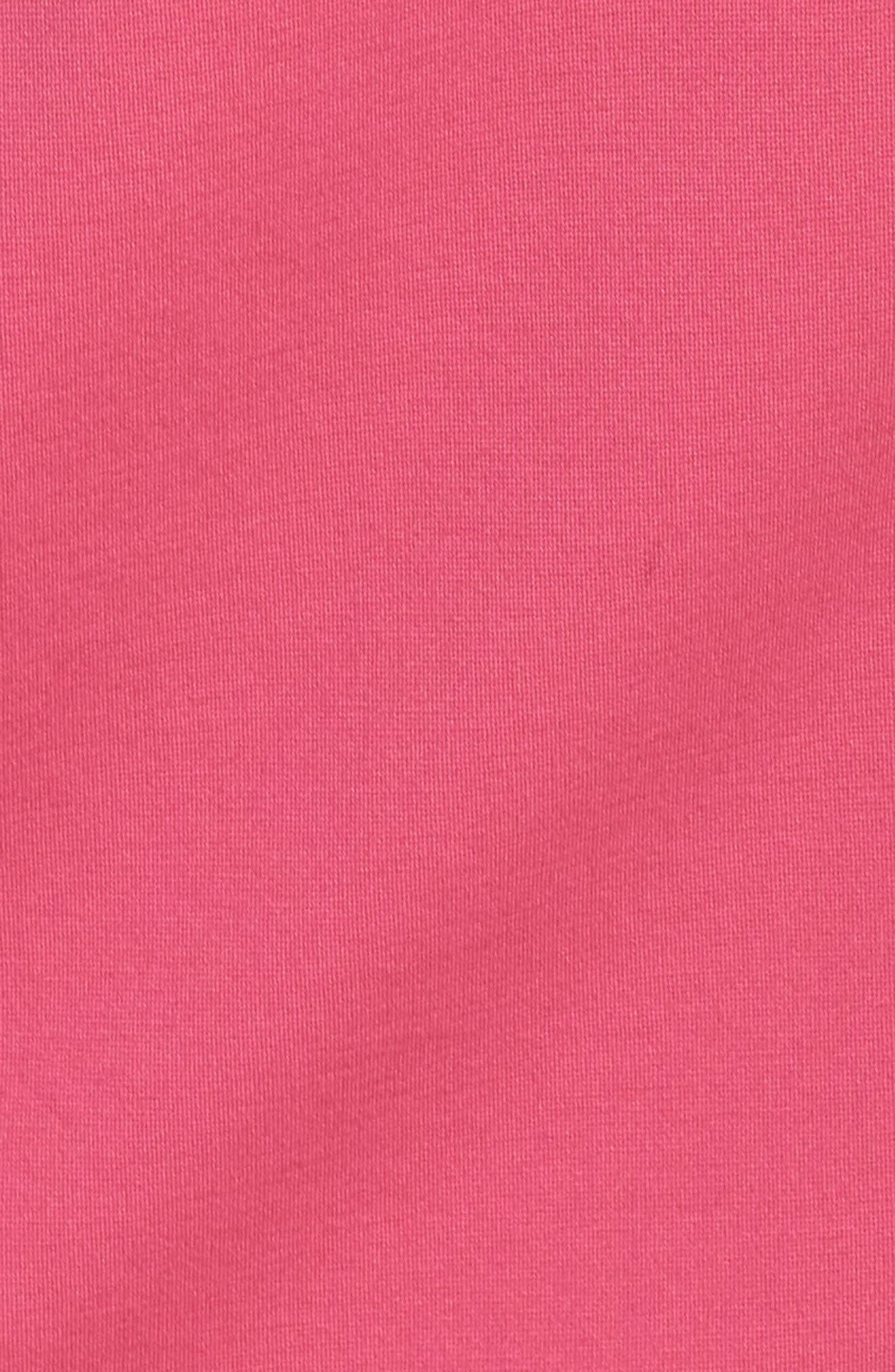 Embroidered V-Neck Shift Dress,                             Alternate thumbnail 6, color,                             Pink