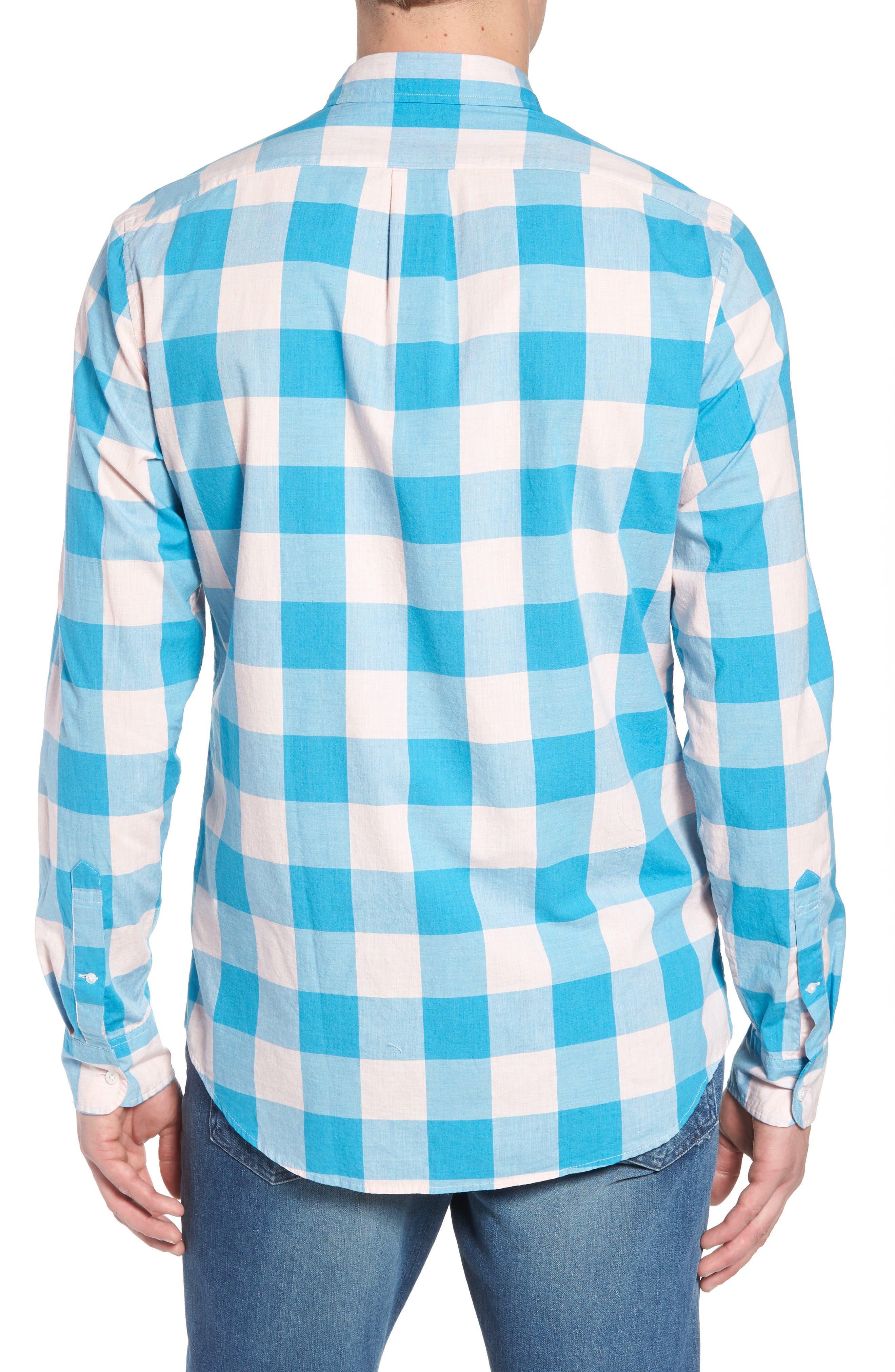 Classic Fit Stretch Secret Wash Check Sport Shirt,                             Alternate thumbnail 2, color,                             Blush Sea
