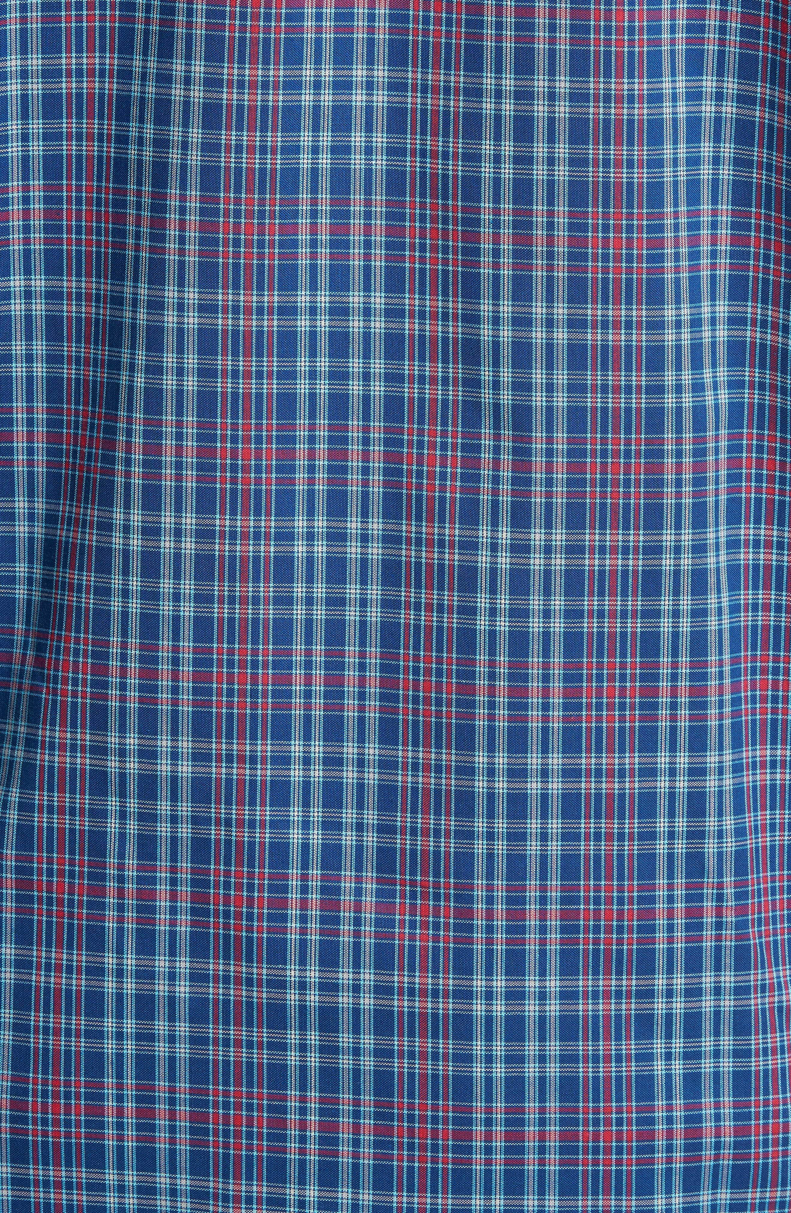 Isaac Classic Fit Easy Care Check Sport Shirt,                             Alternate thumbnail 3, color,                             Nautical