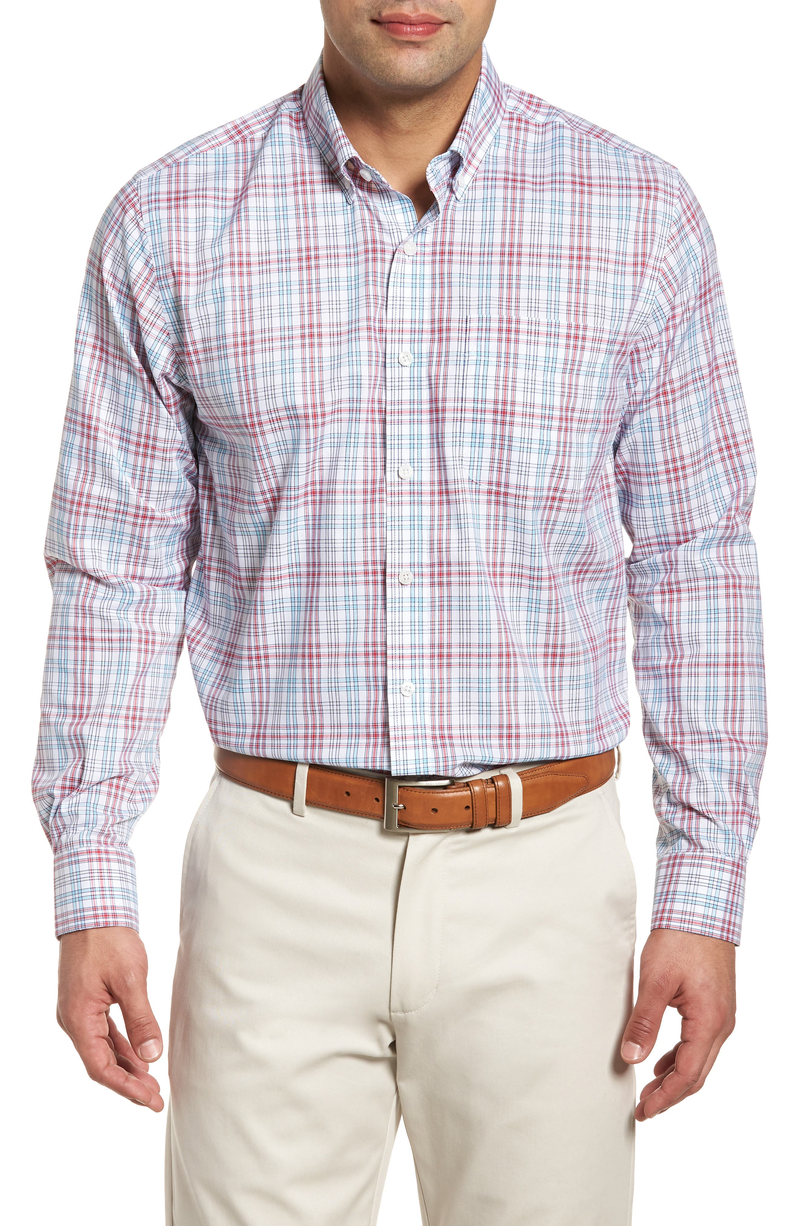 Main Image - Cutter & Buck Charlie Classic Fit Easy Care Check Sport Shirt