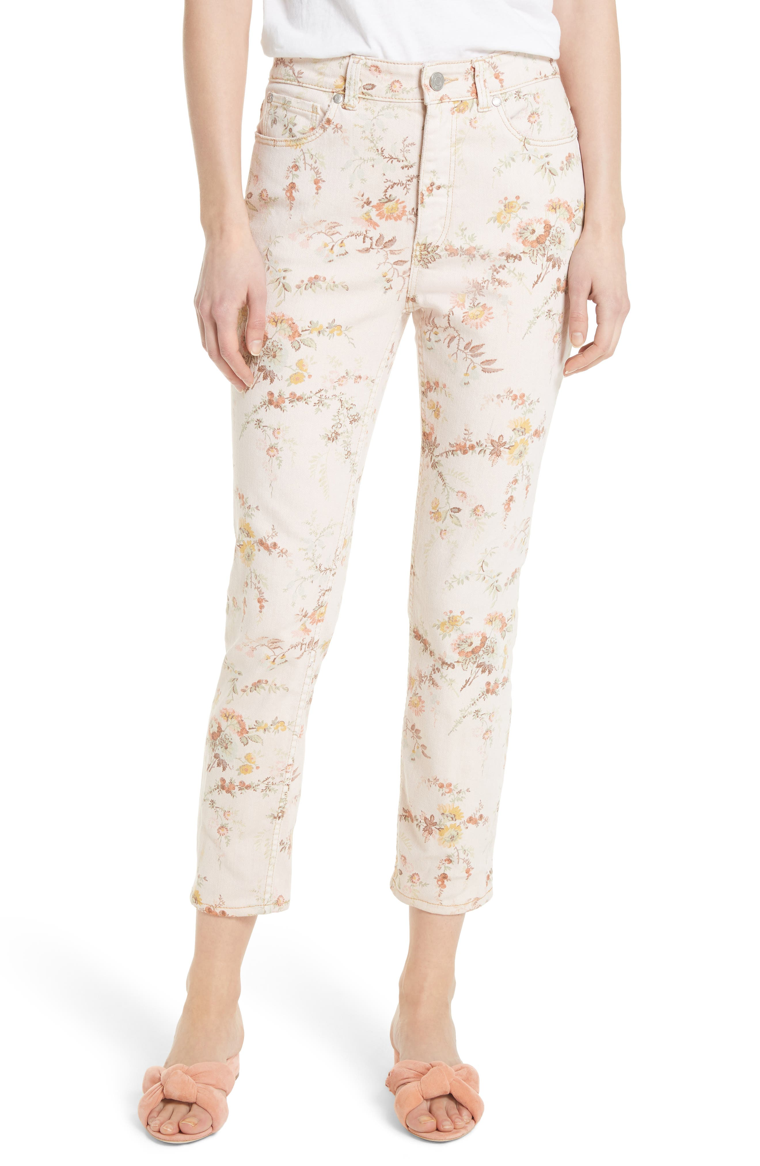 Belle Bouquet Ines Ankle Jeans,                         Main,                         color, Frappe Combo